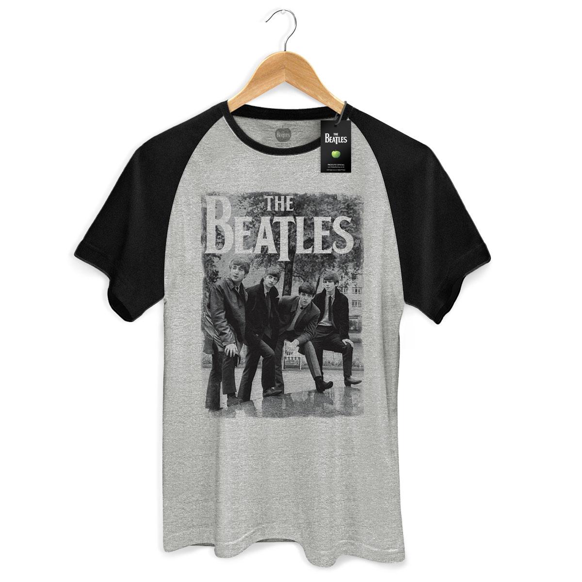 Camiseta Raglan Masculina The Beatles Hey What´s That