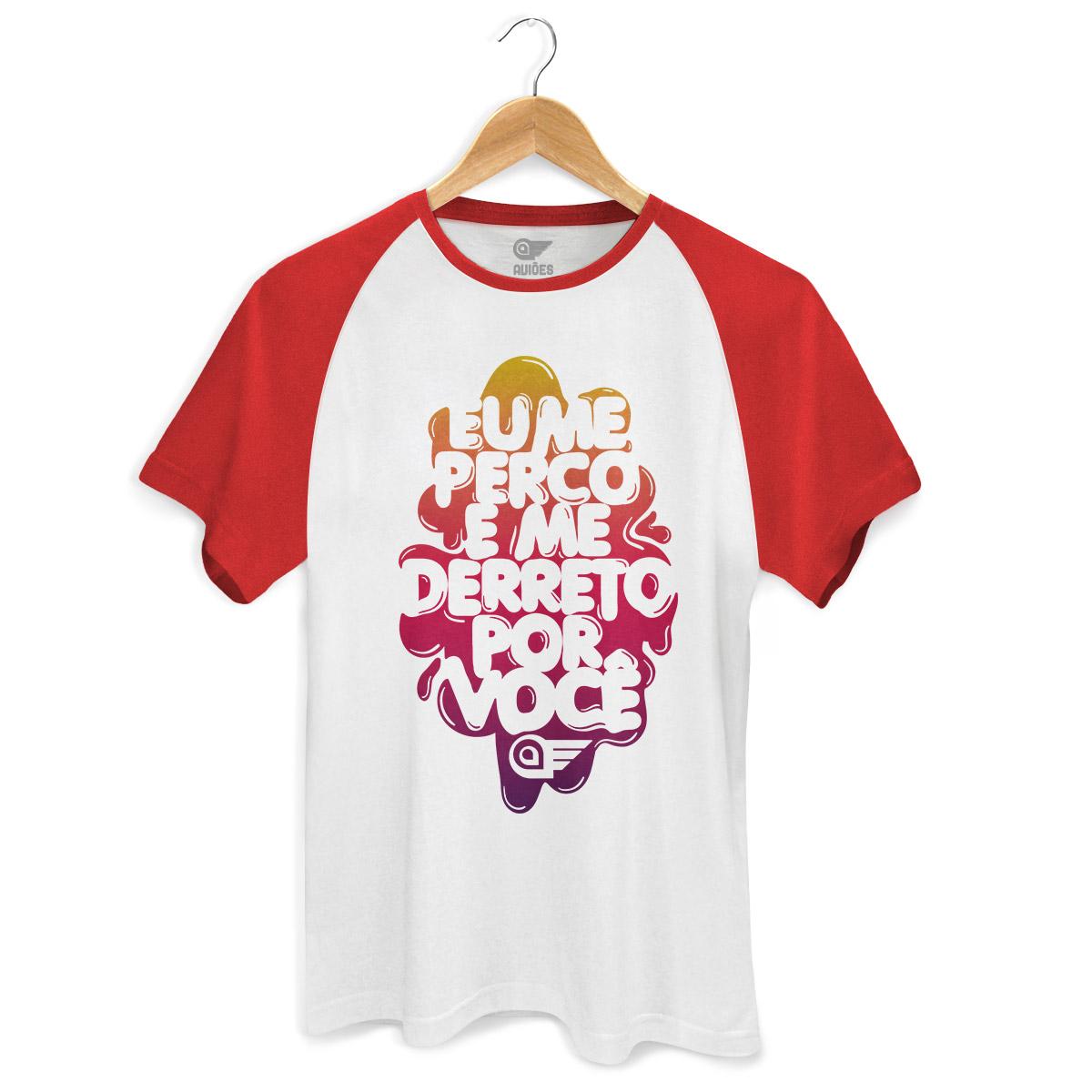 Camiseta Raglan Premium Masculina Aviões do Forró Me Derreto Por Você