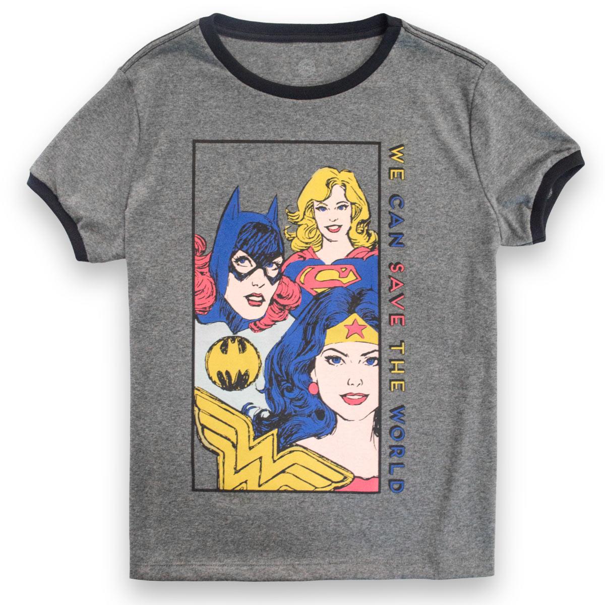 Camiseta Ringer Feminina DC Girls