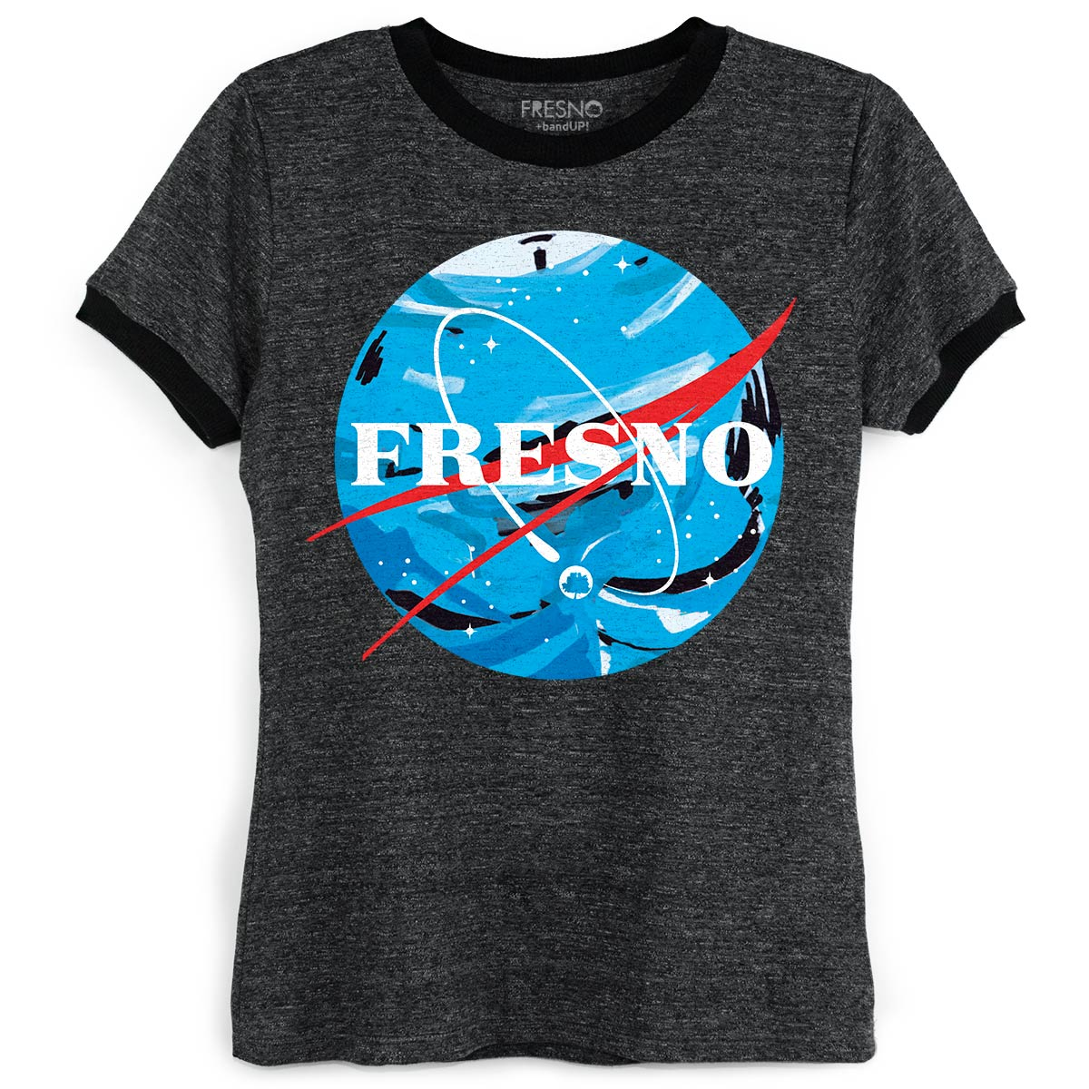 Camiseta Ringer Feminina Fresno Programa Espacial