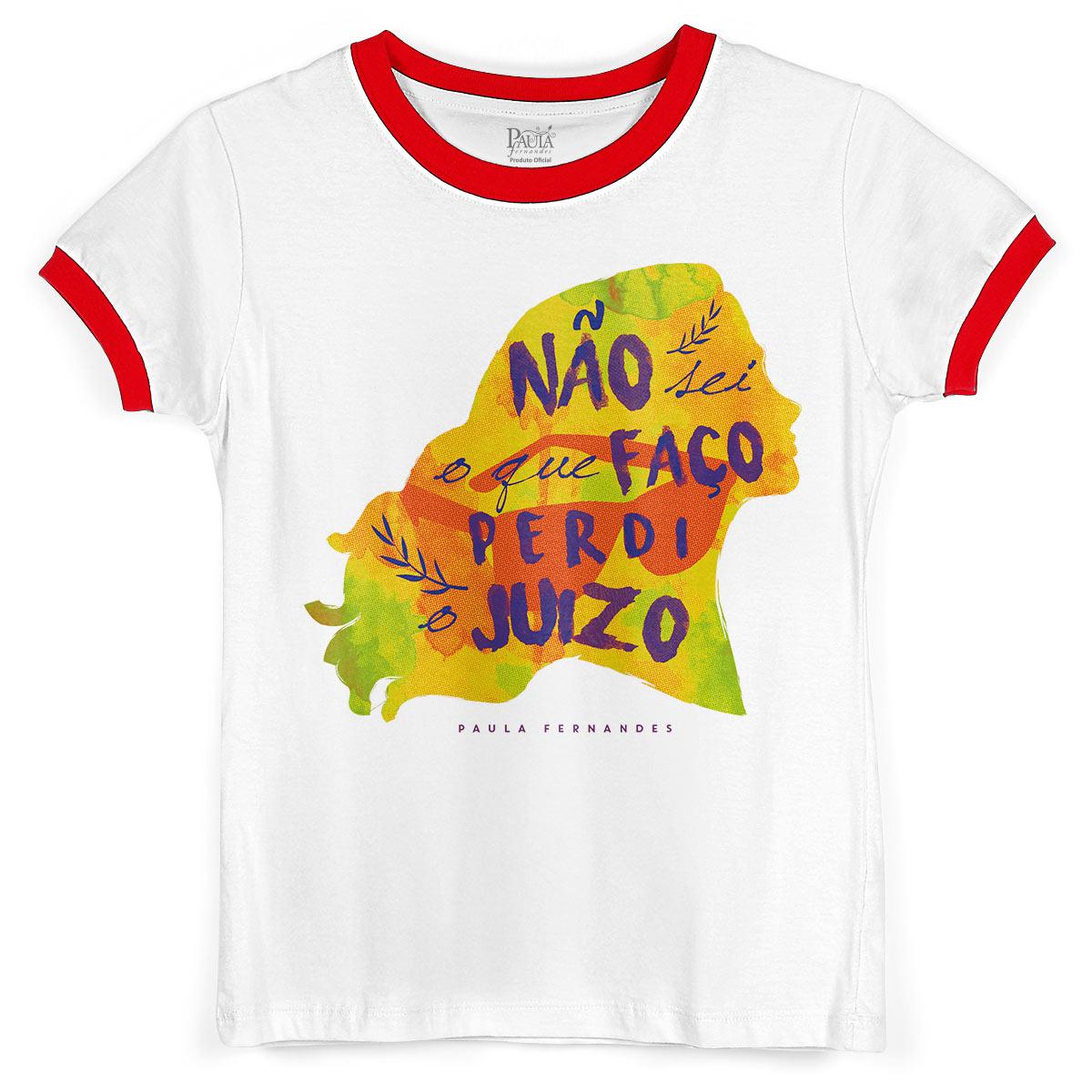 Camiseta Ringer Feminina Paula Fernandes Perdi o Juízo