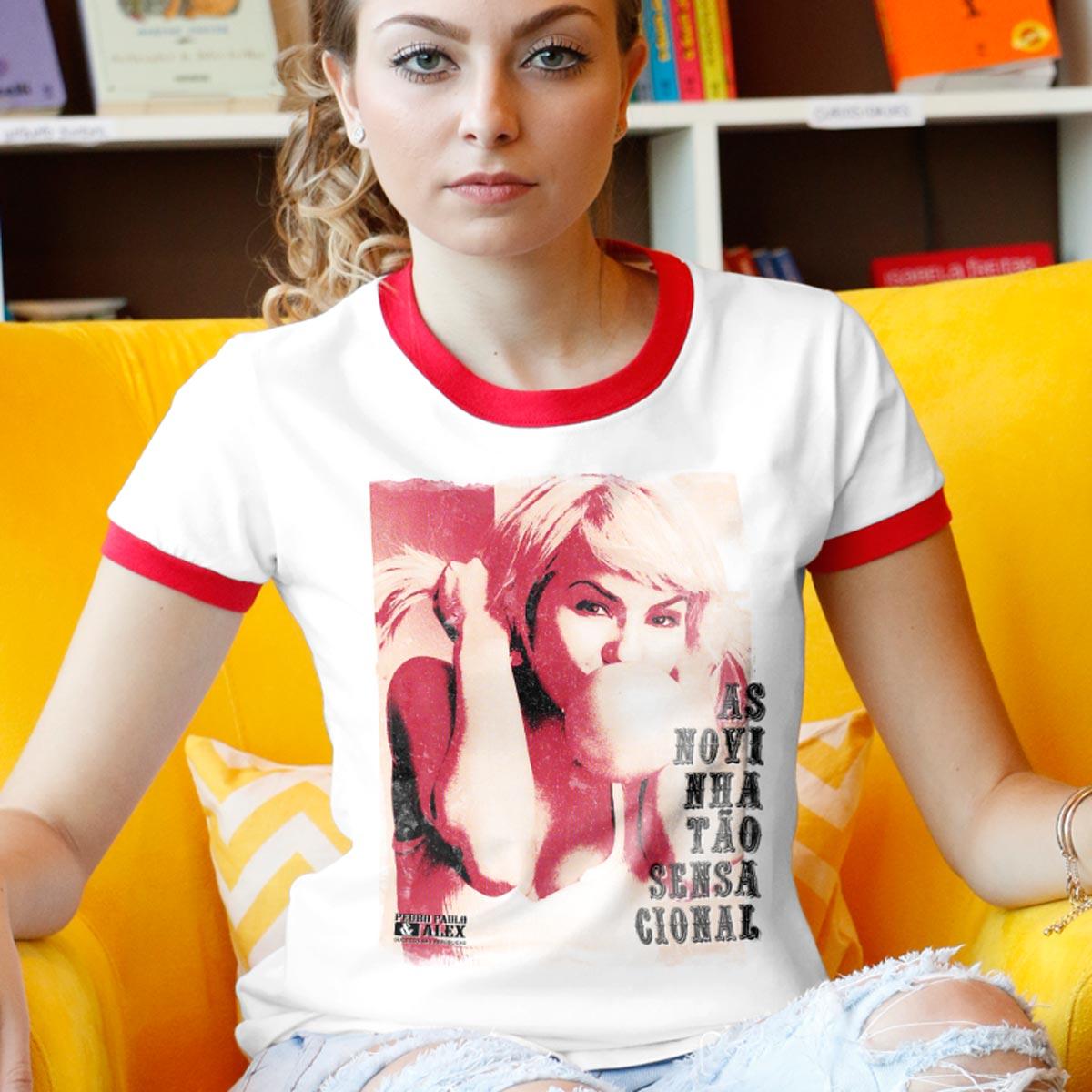 Camiseta Ringer Feminina Pedro Paulo & Alex Novinha