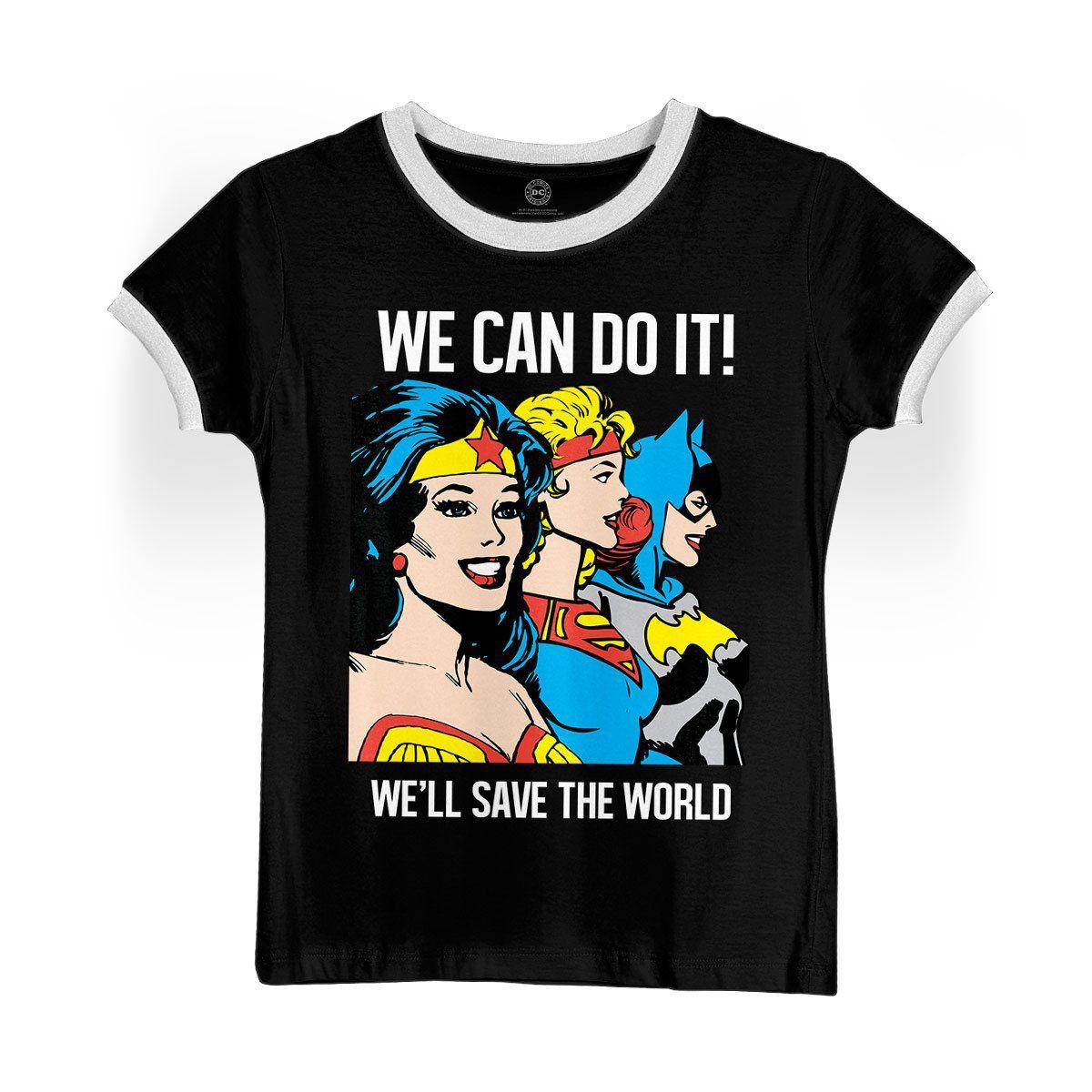 Camiseta Ringer Feminina We Can Do It
