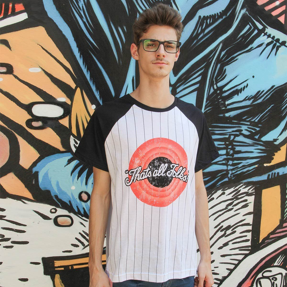 T-Shirt Unissex Looney Tunes That´s All Folks