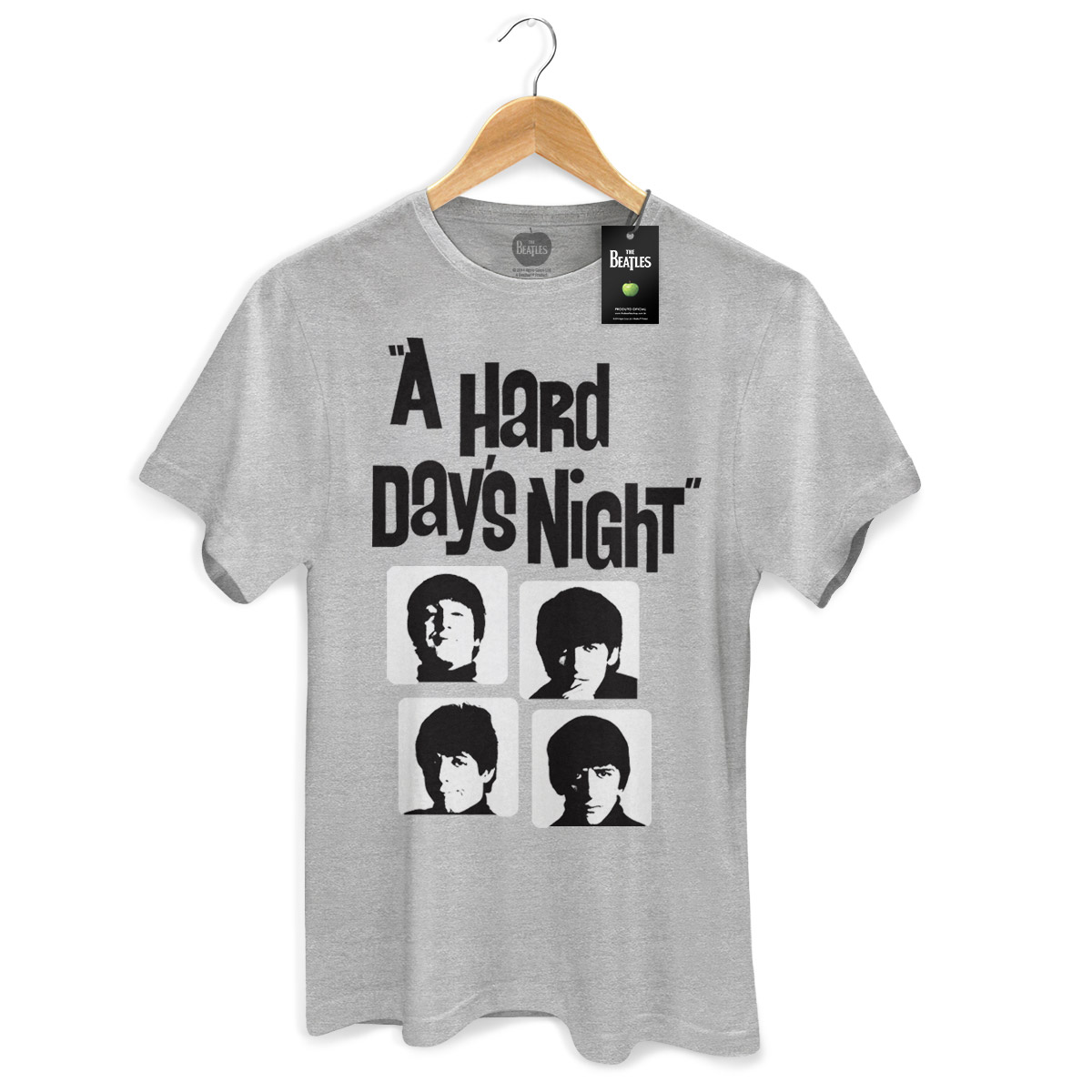 Camiseta Unissex The Beatles Hard Day´s Night Grey Basic