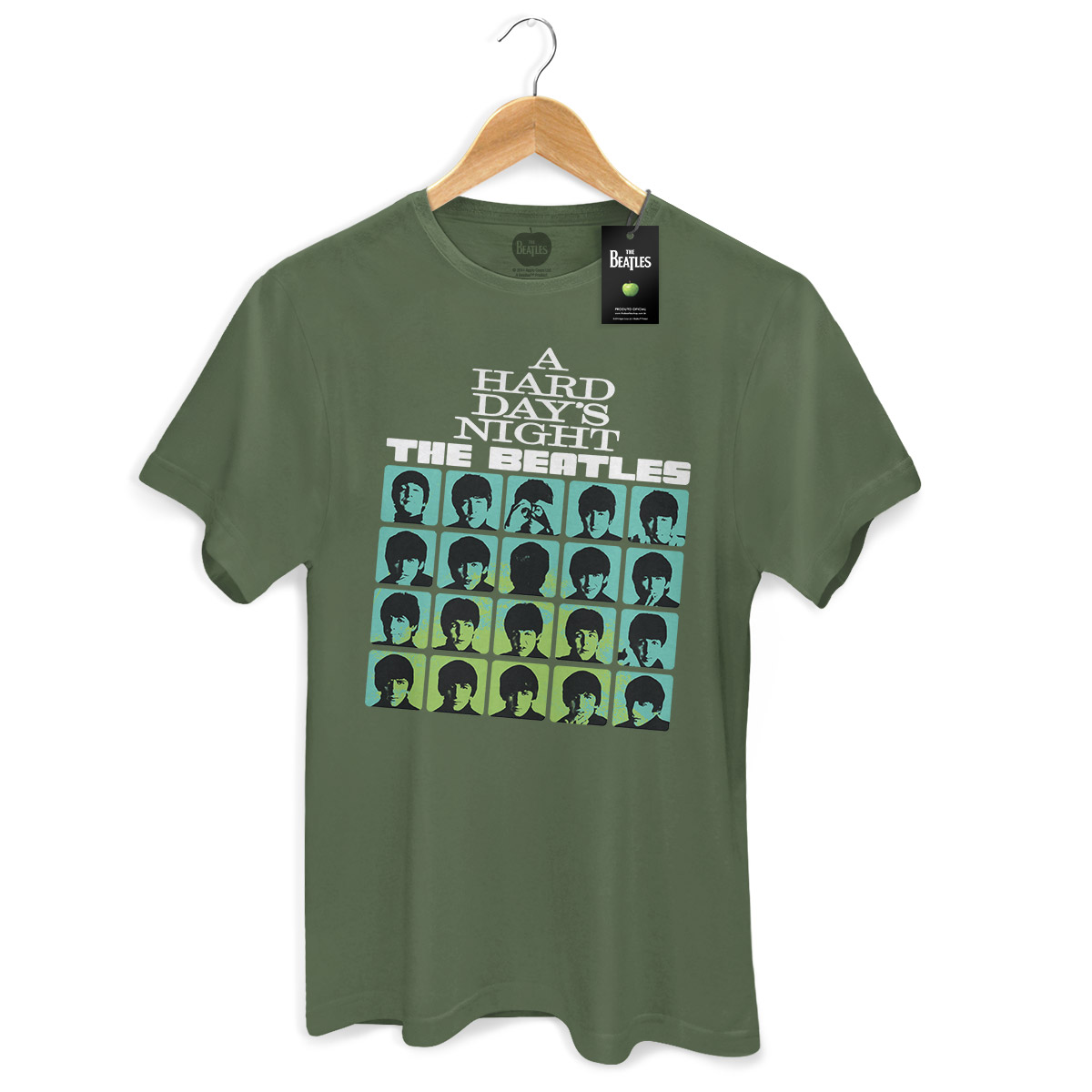 Camiseta Unissex The Beatles Hard Day´s Night Militar