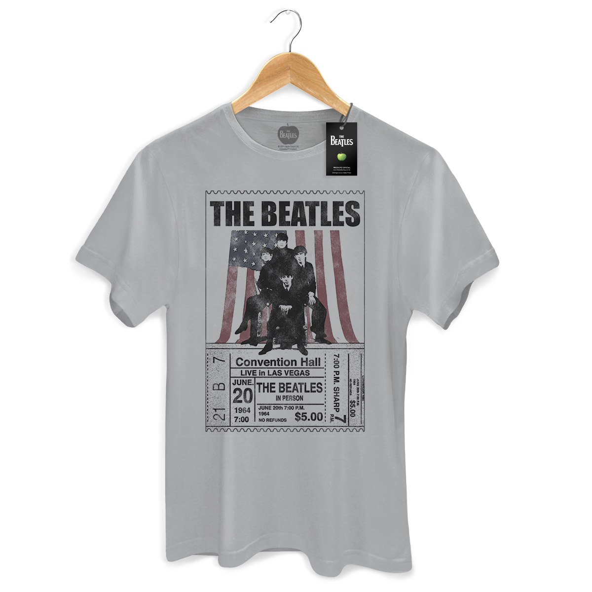 Camiseta Unissex The Beatles Live in Las Vegas