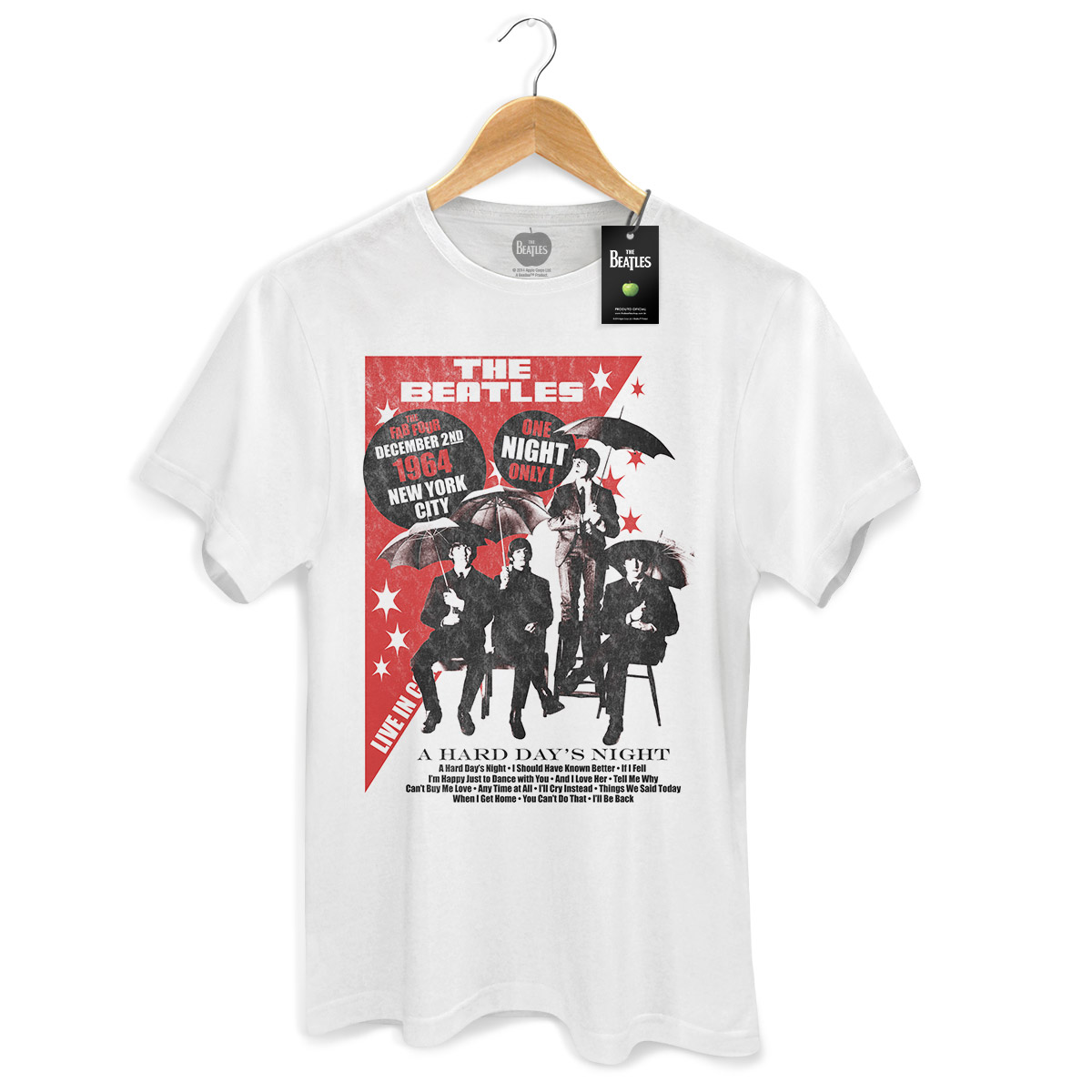 Camiseta Unissex The Beatles The Fab Four 1964