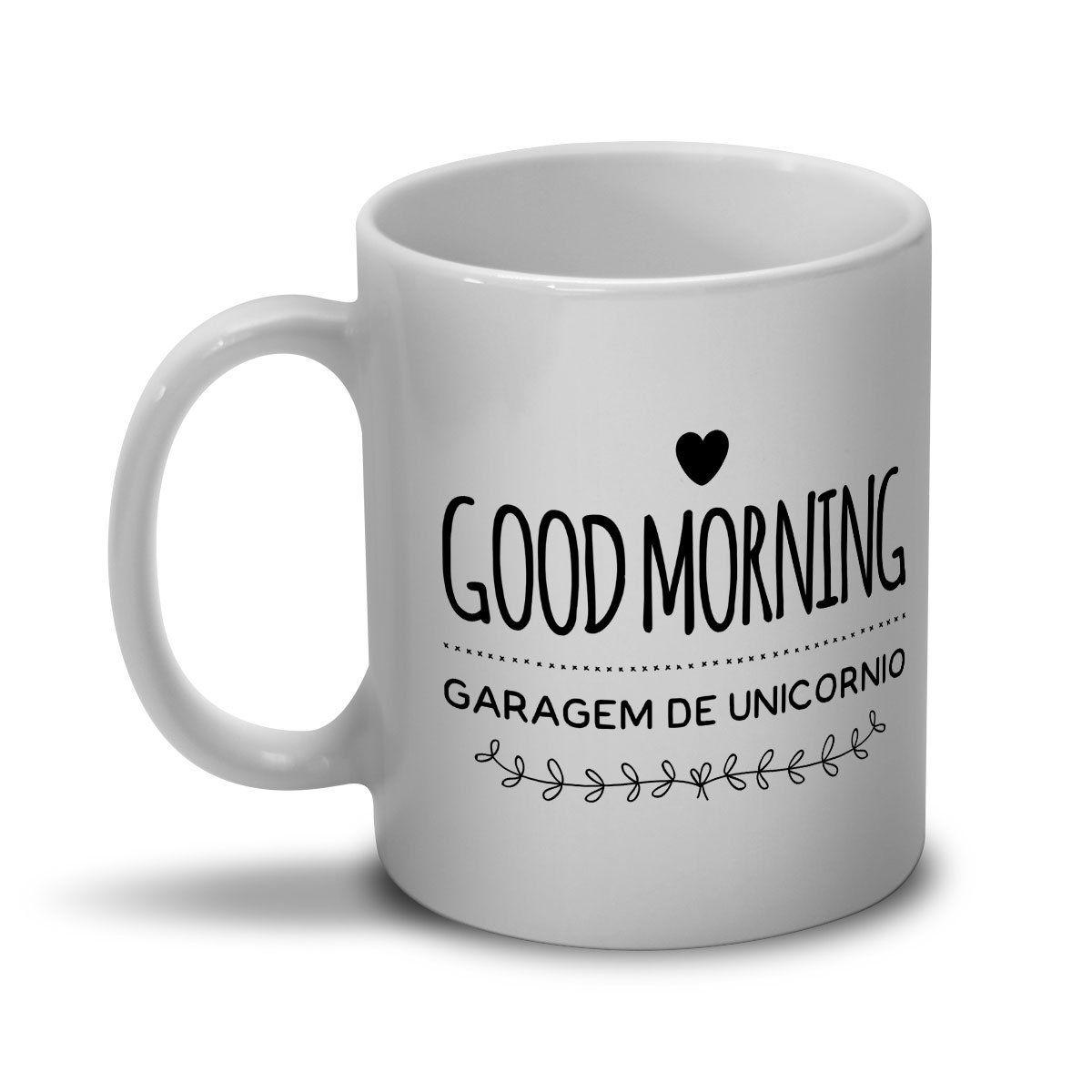 Caneca Monstra Maçã Good Morning Garagem de Unicórnio