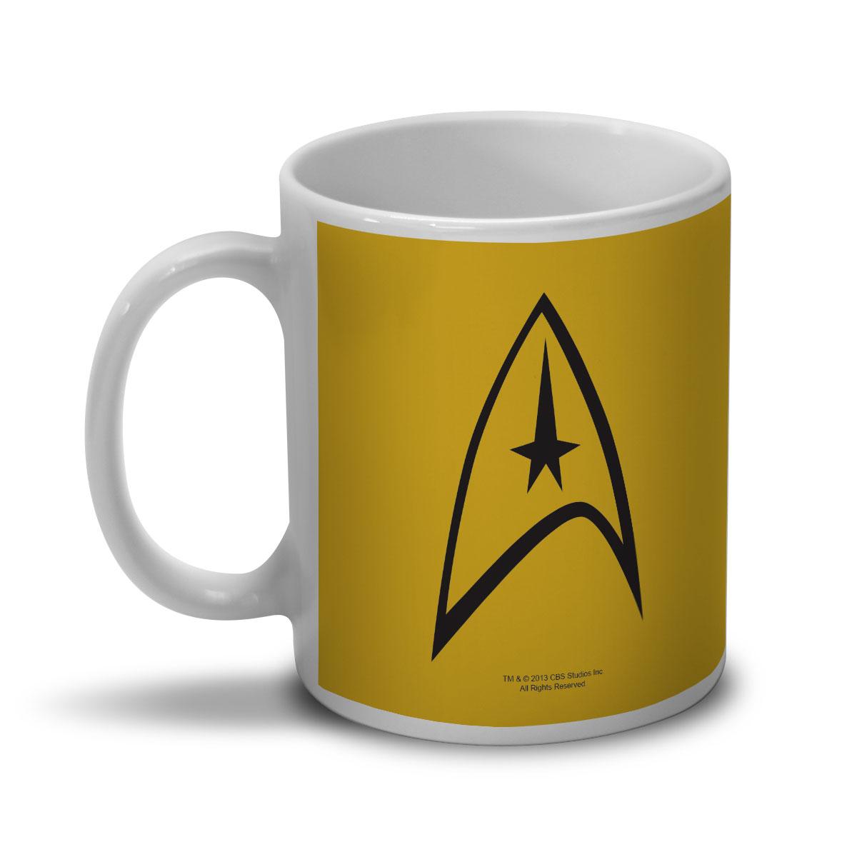 Caneca Star Trek Command Yellow