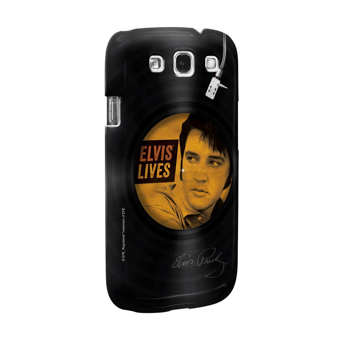 Capa de Celular Samsung Galaxy S3 Elvis Lives Vinyl