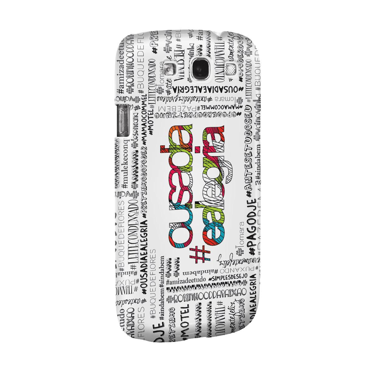 Capa de Celular Samsung Galaxy S3 Thiaguinho Ousadia e Alegria Colors