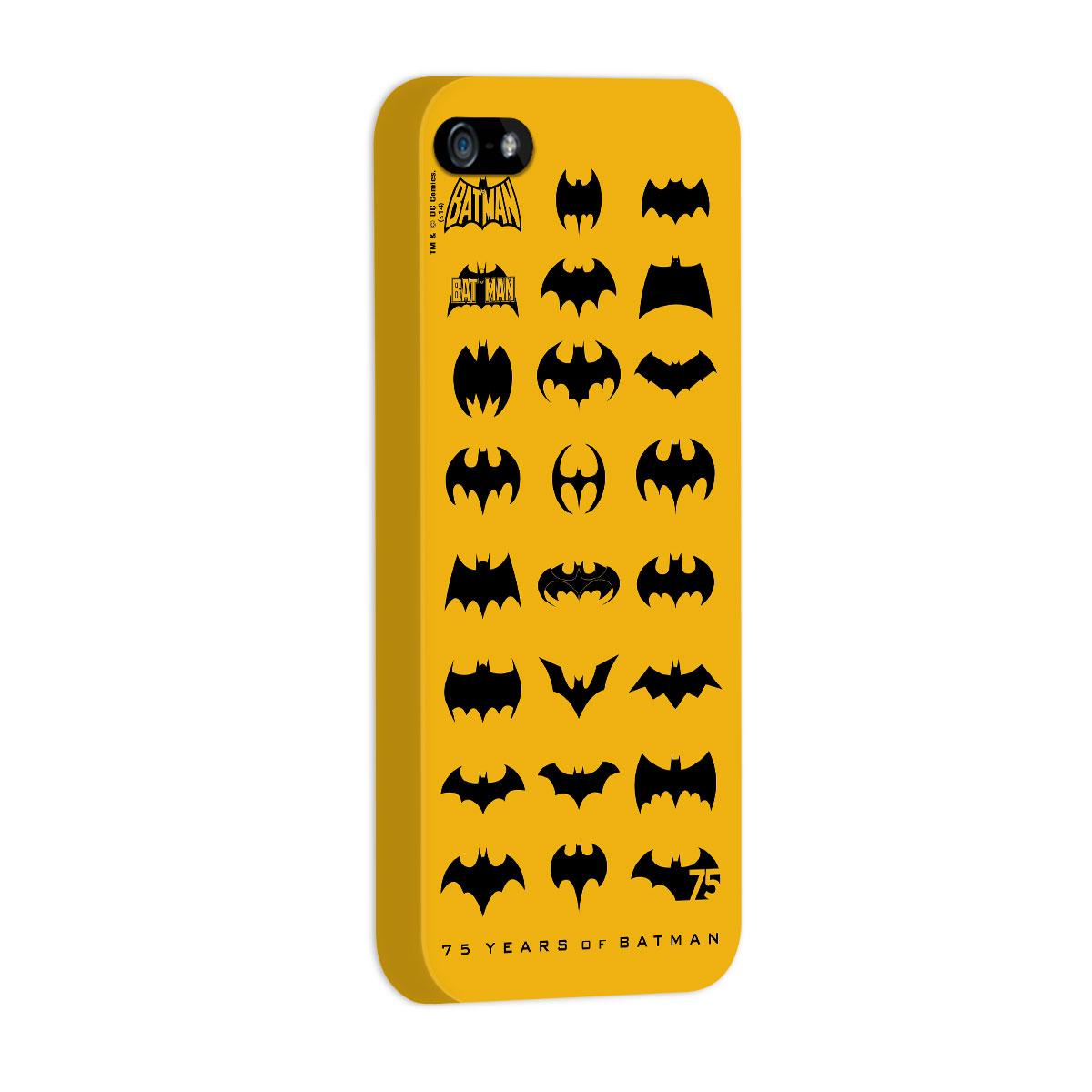 Capa de iPhone 5/5S Batman 75 Anos Logos Collection