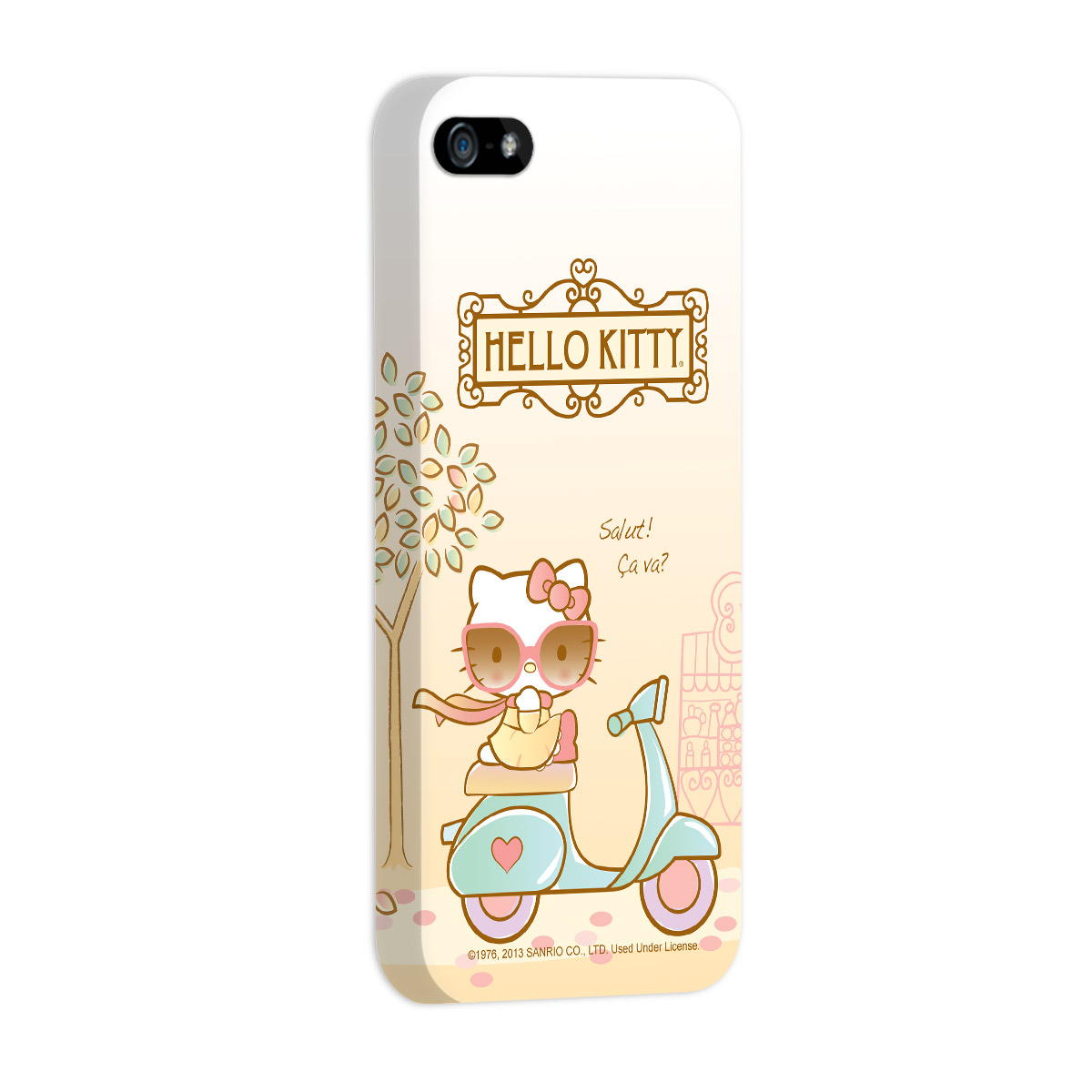 Capa de iPhone 5/5S Hello Kitty Salut! Ça Va?