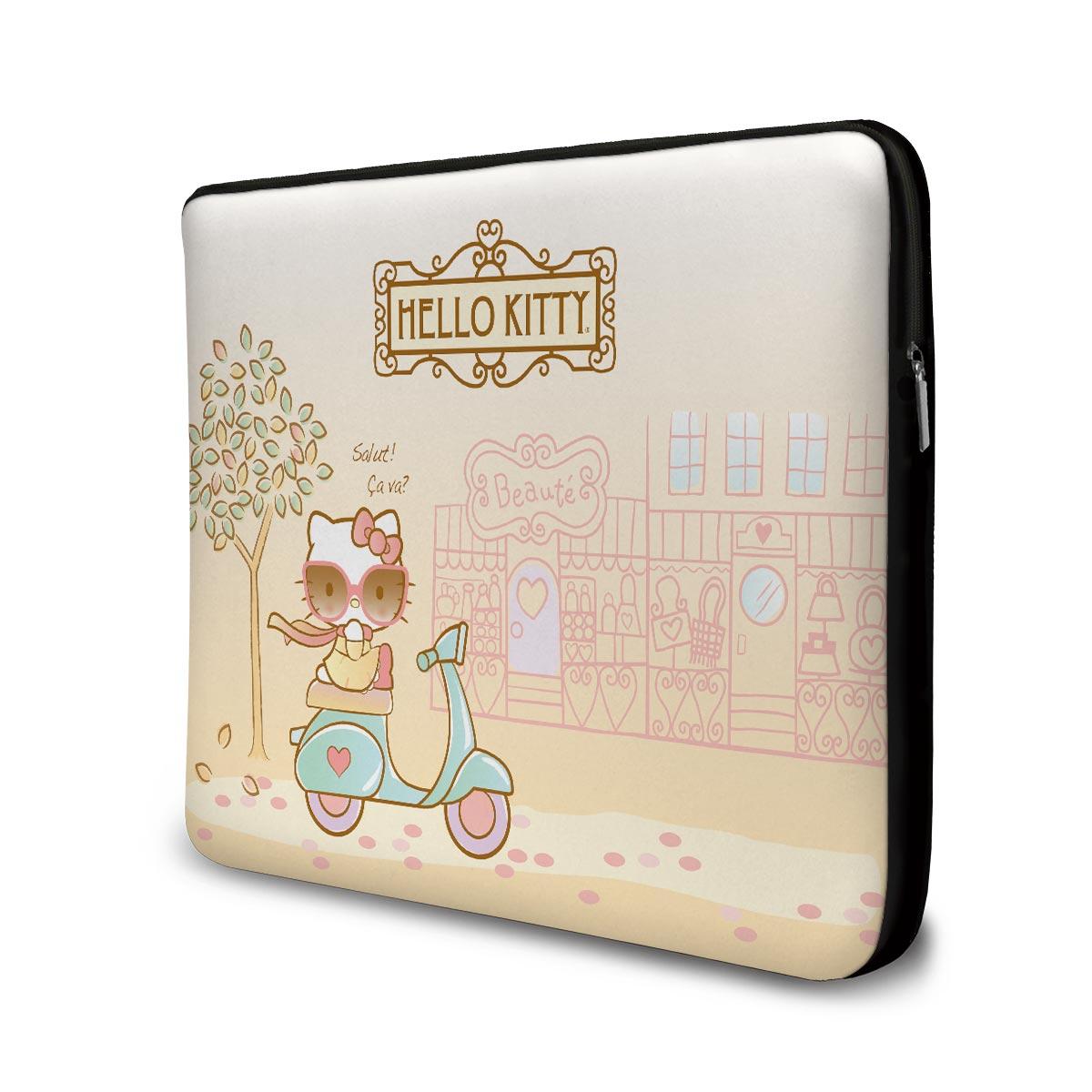 Capa de Notebook Hello Kitty Salut! Ça Va?