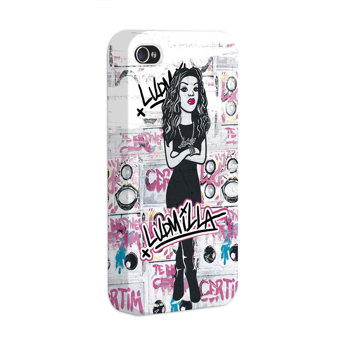 Capa para iPhone 4/4S Ludmilla Grafite