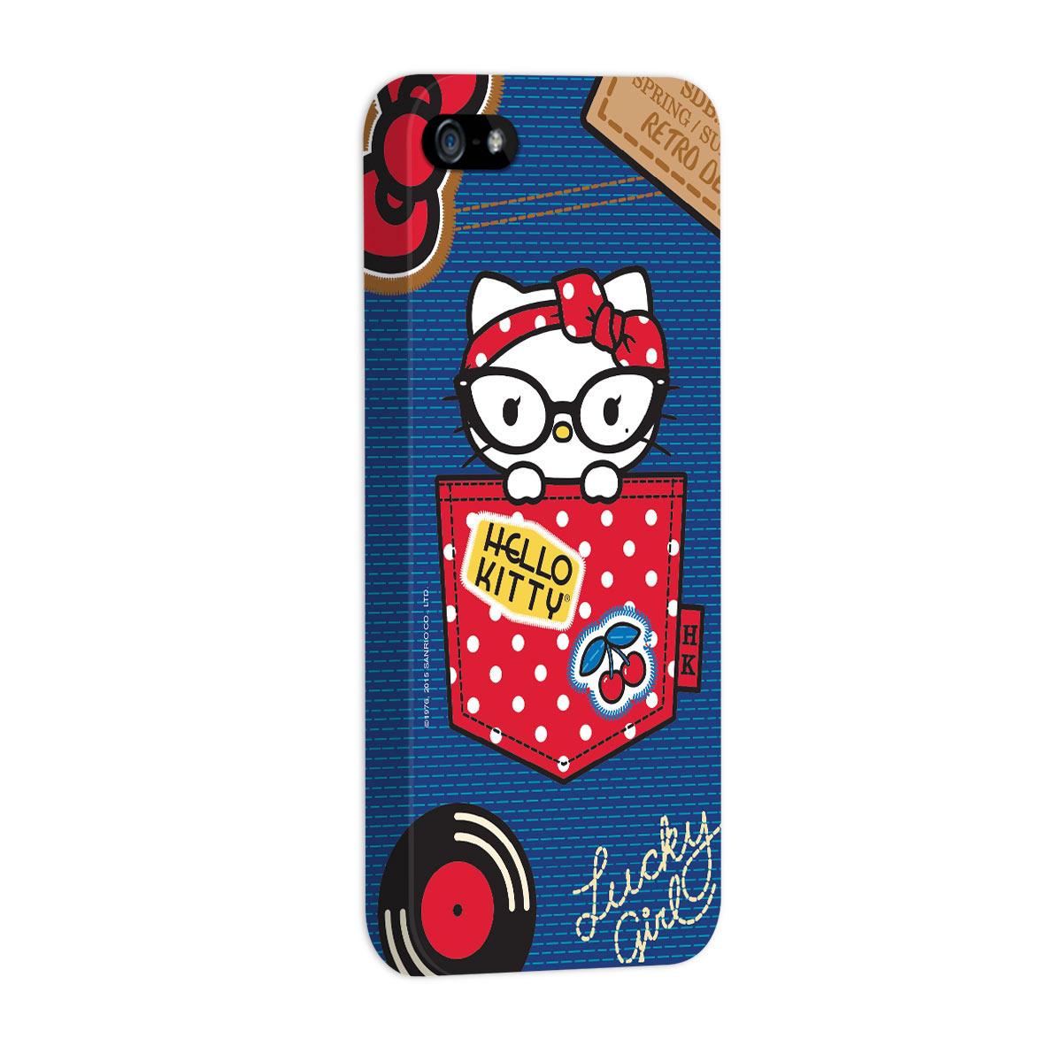 Capa para iPhone 5/5S Hello Kitty Retro Denim