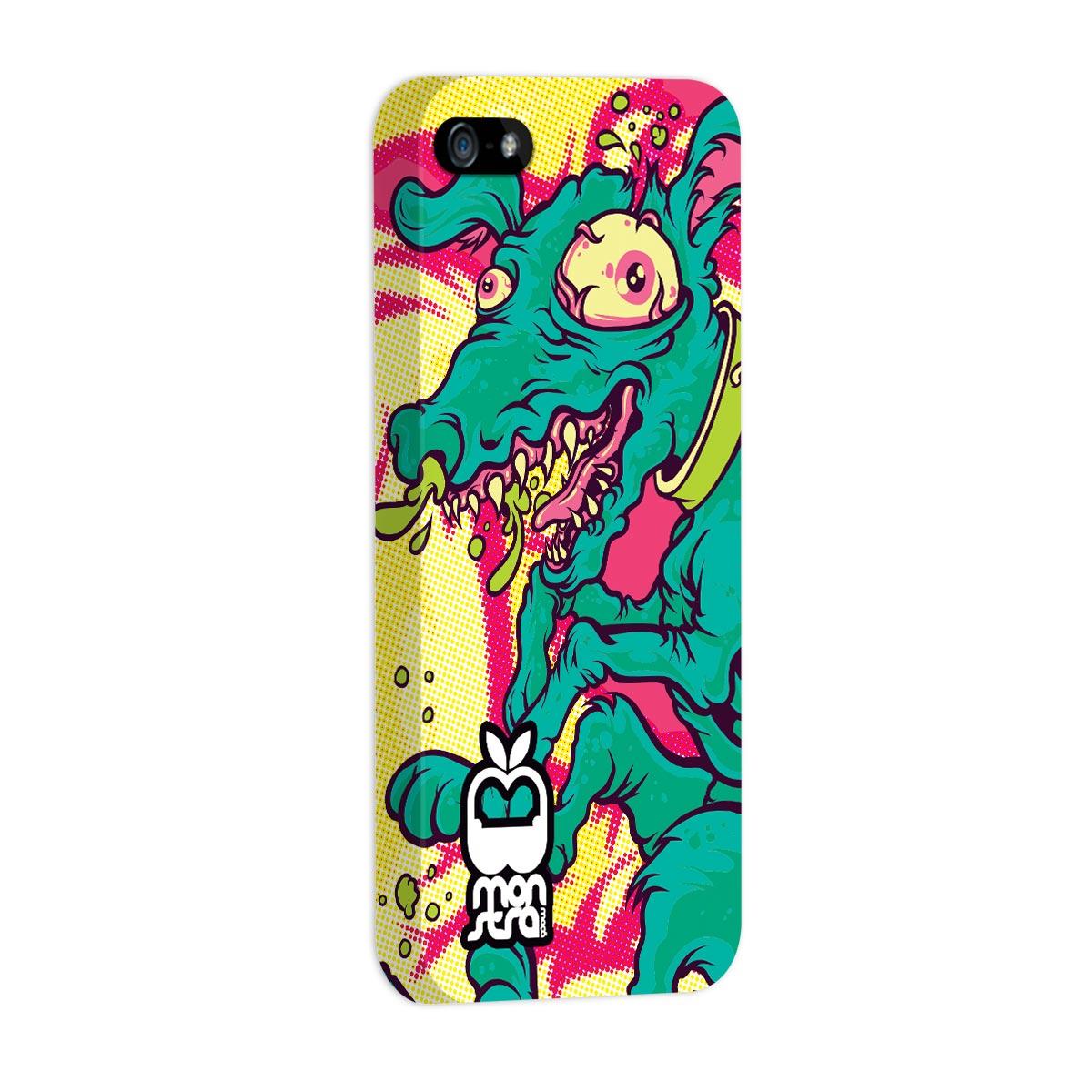 Capa para iPhone 5/5S Monstra Maçã Crazy Dog