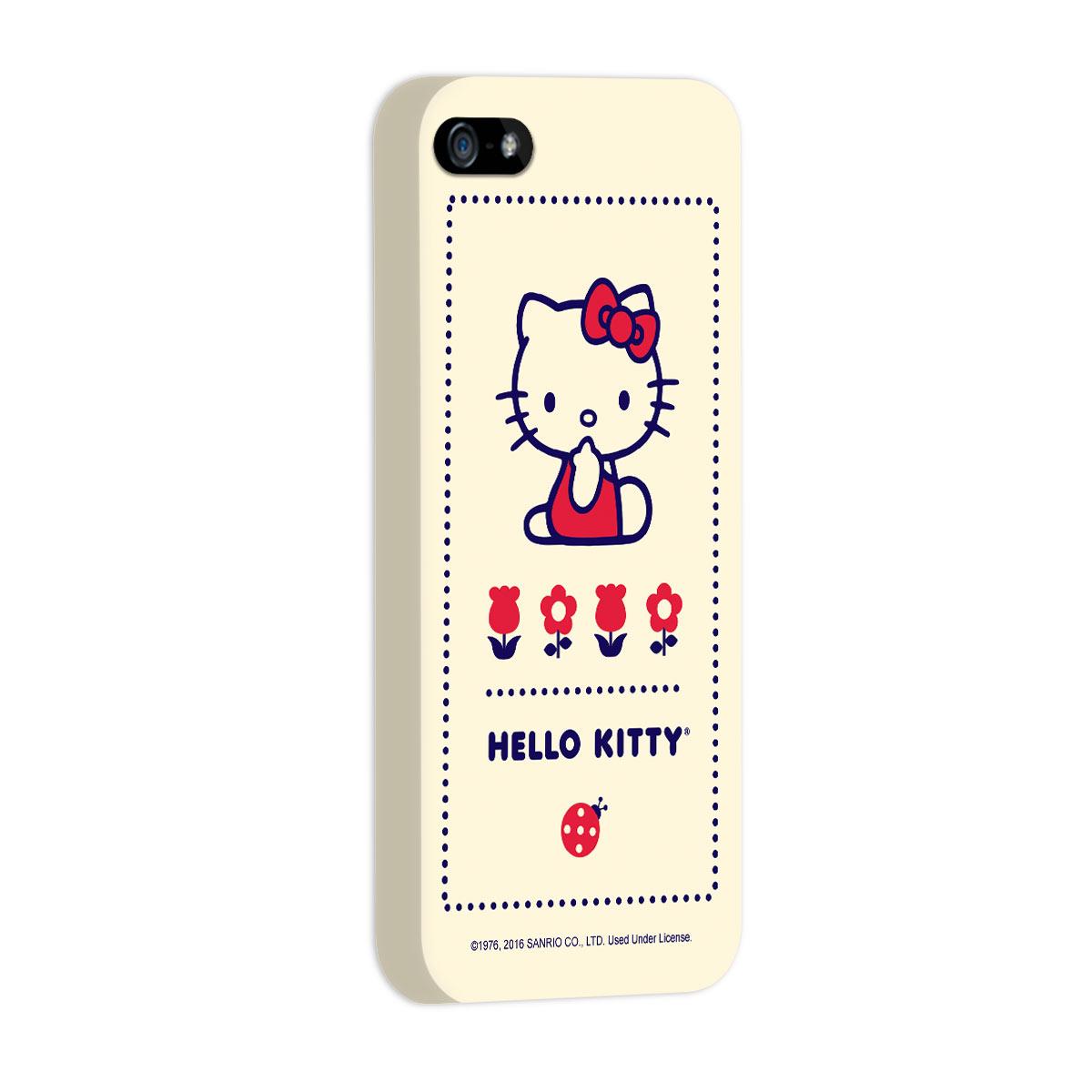 Capa para iPhone 5/5S/SE Hello Kitty Flowers