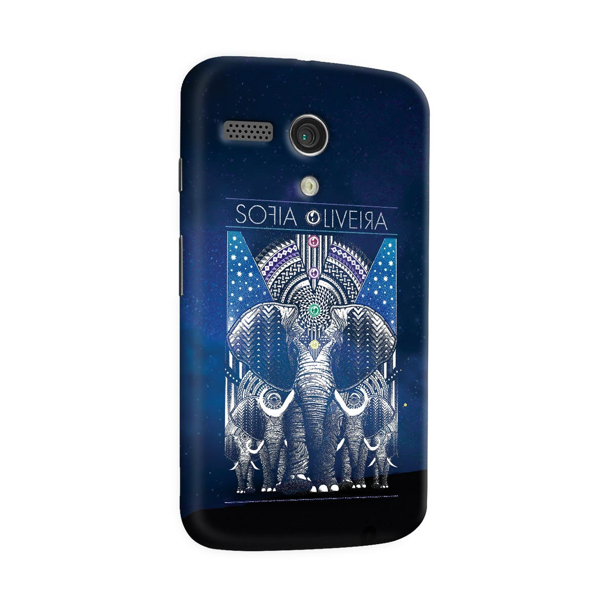Capa para Motorola Moto G 1 Sofia Oliveira Elephant