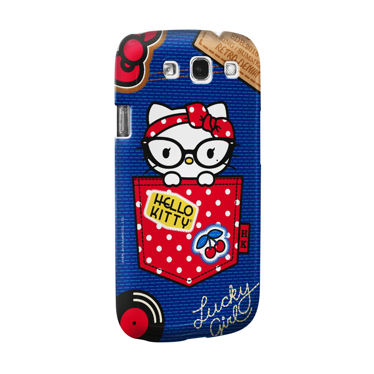 Capa para Samsung Galaxy S3 Hello Kitty Retro Denim