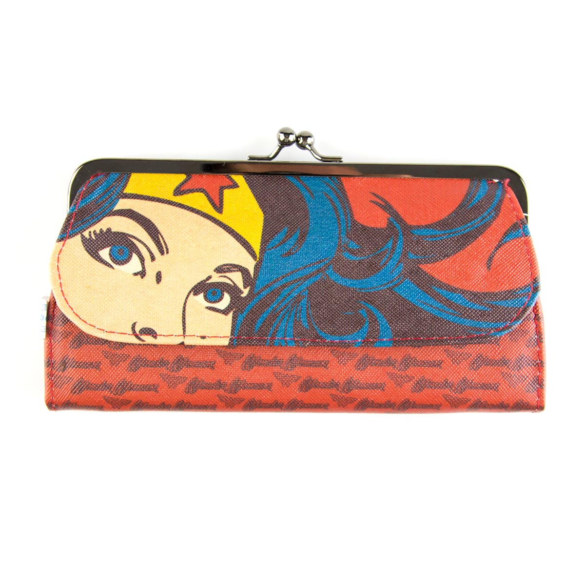 Carteira Feminina Wonder Woman Power Vermelha