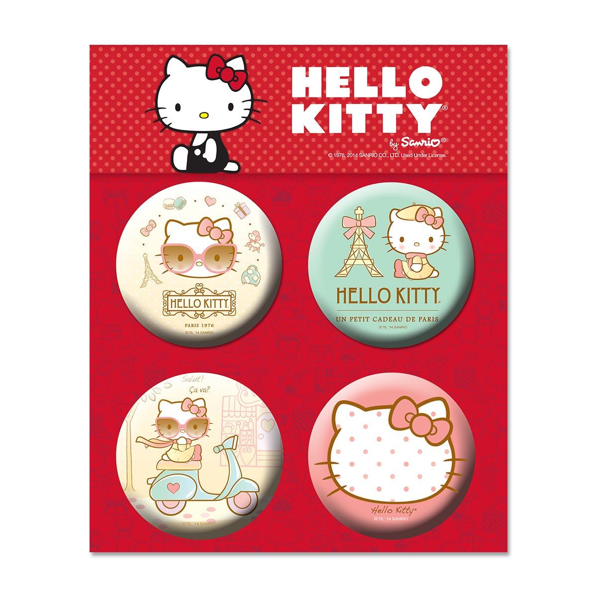 Cartela de Buttons Hello Kitty Modelo 2