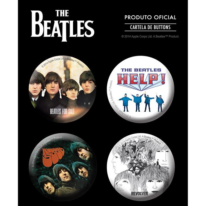 Cartela de Buttons The Beatles Albums 2