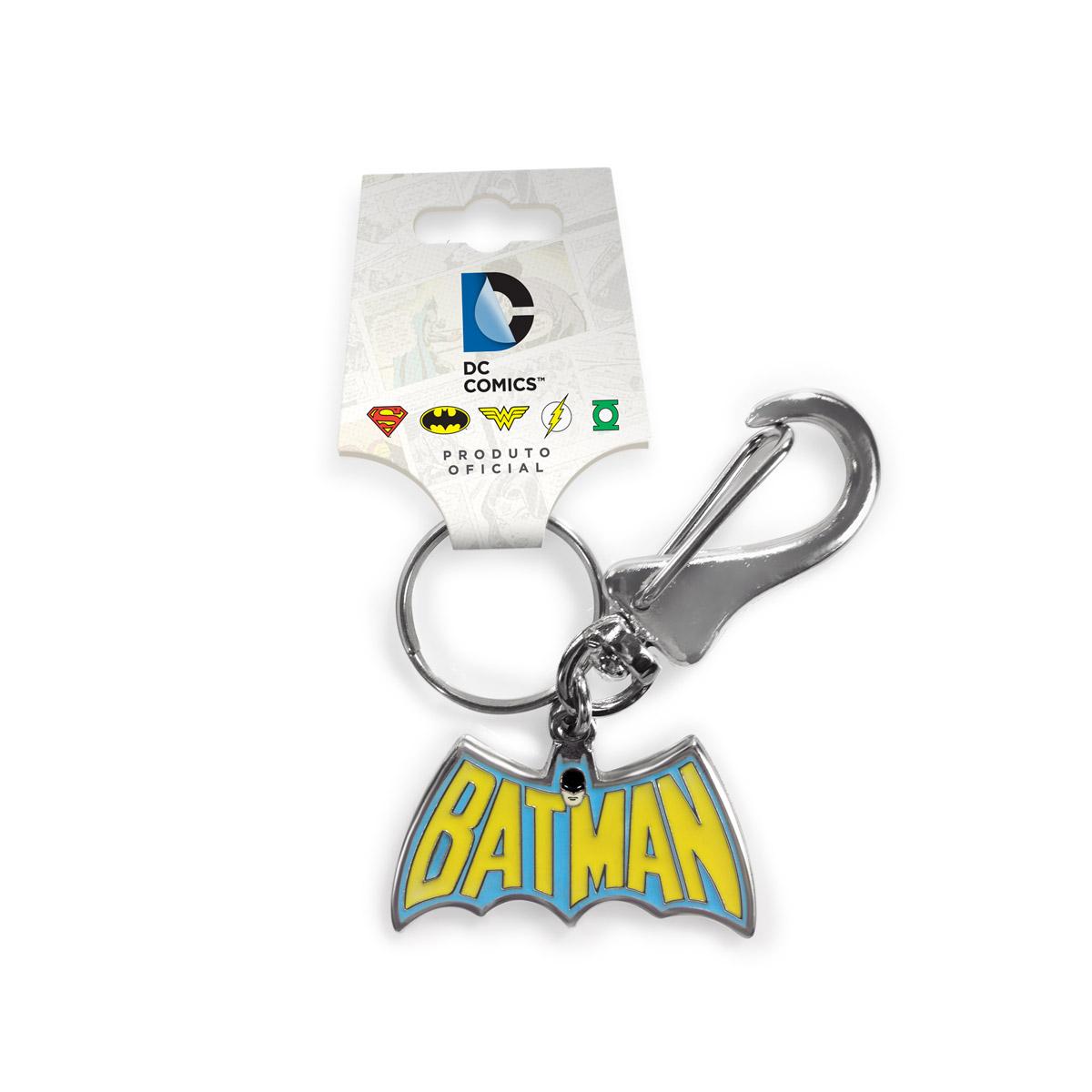 Chaveiro de Metal Batman Logo 60s