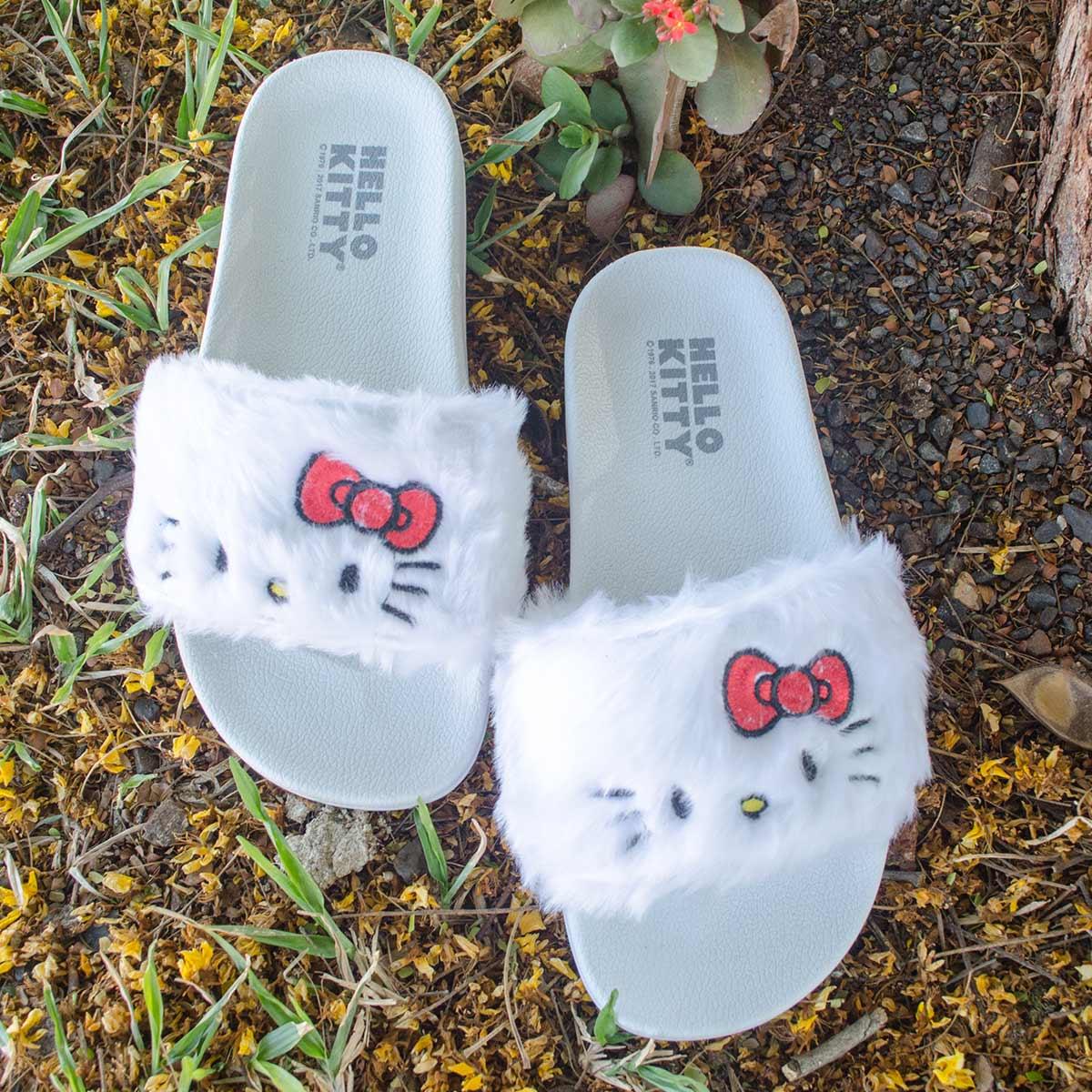 Chinelo Slide Hello Kitty White