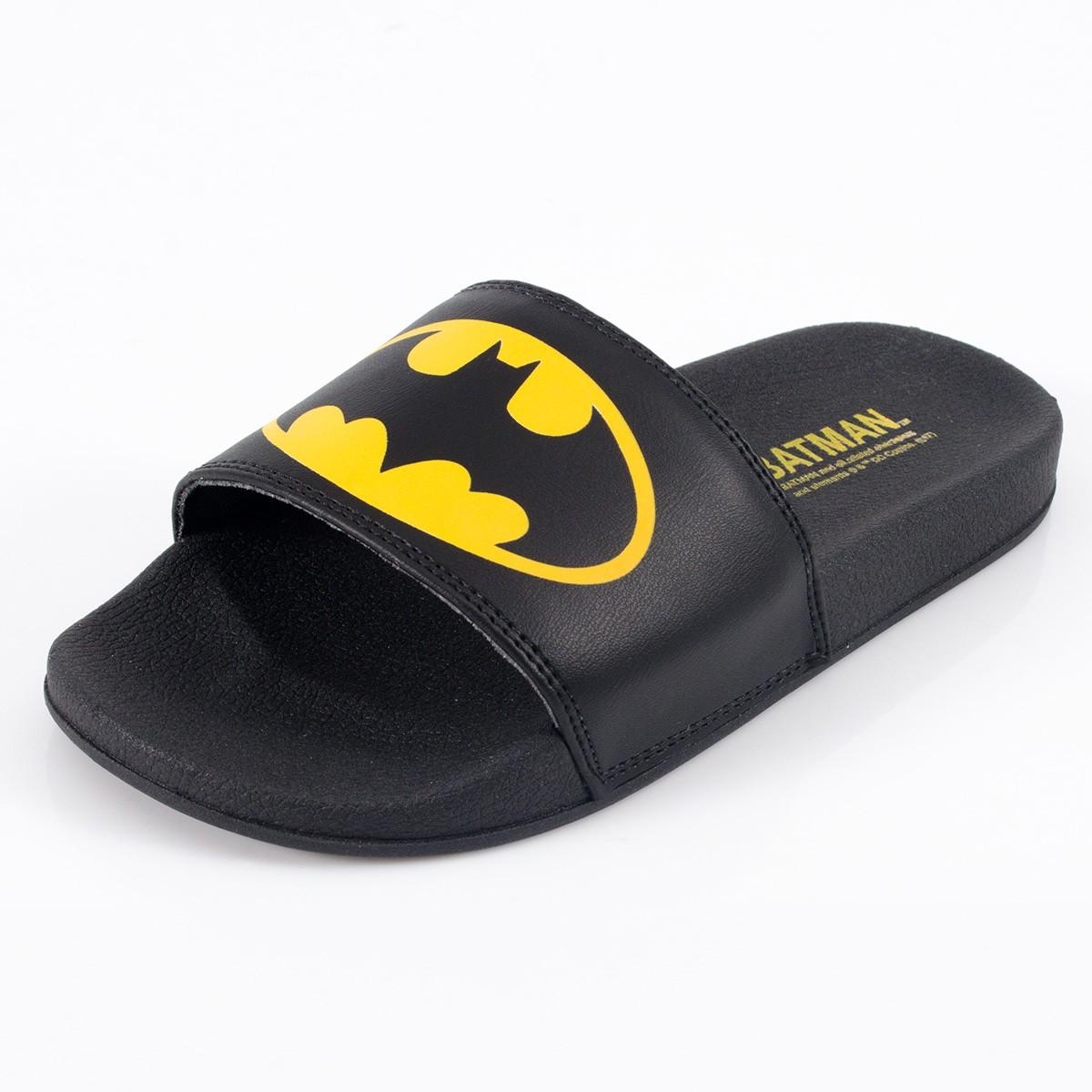 Chinelo Slide DC Comics Batman Logo