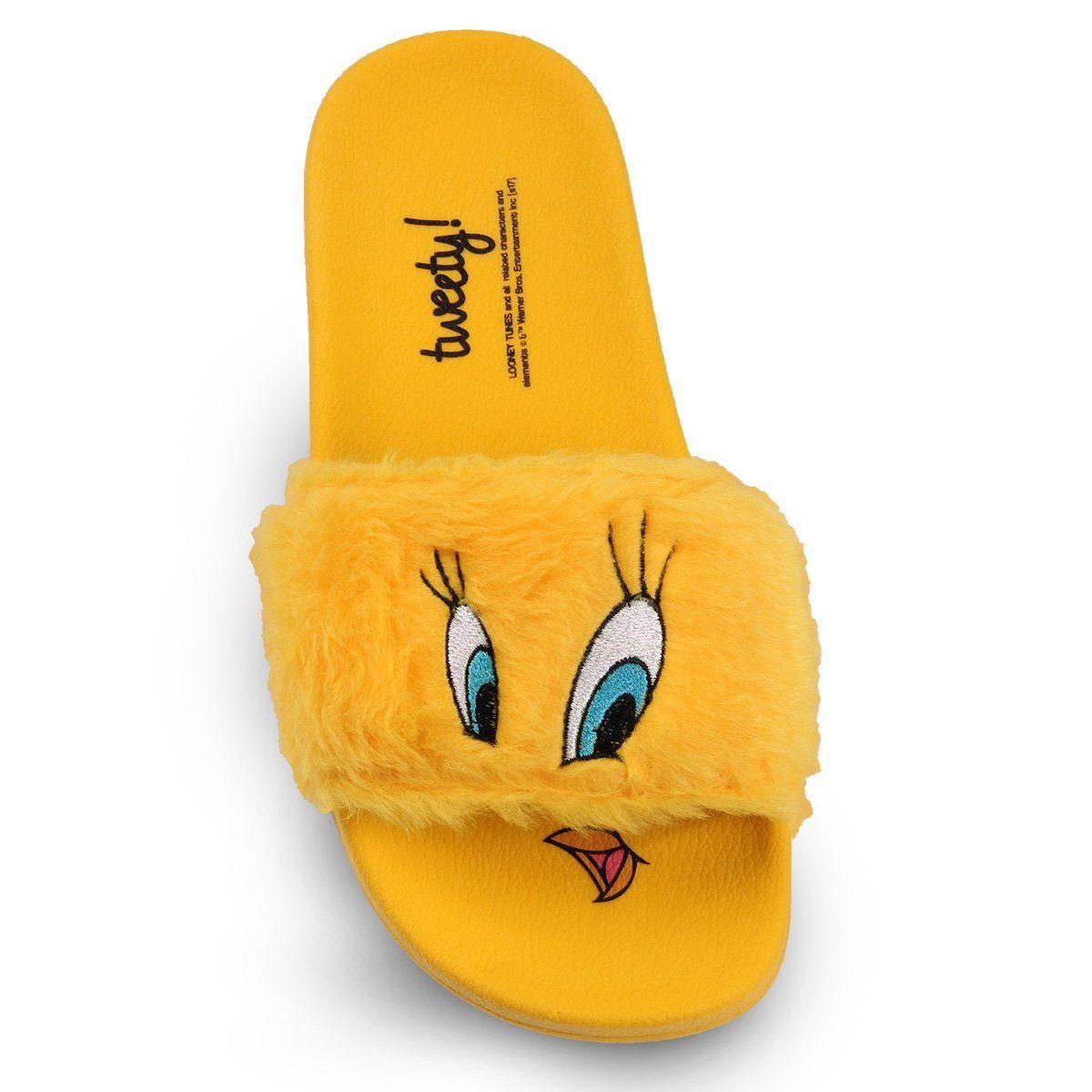 Chinelo Slide Looney Tunes Piu-Piu