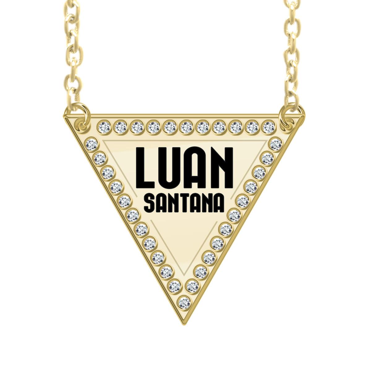 Colar Ouro Luan Santana Triângulo Logo