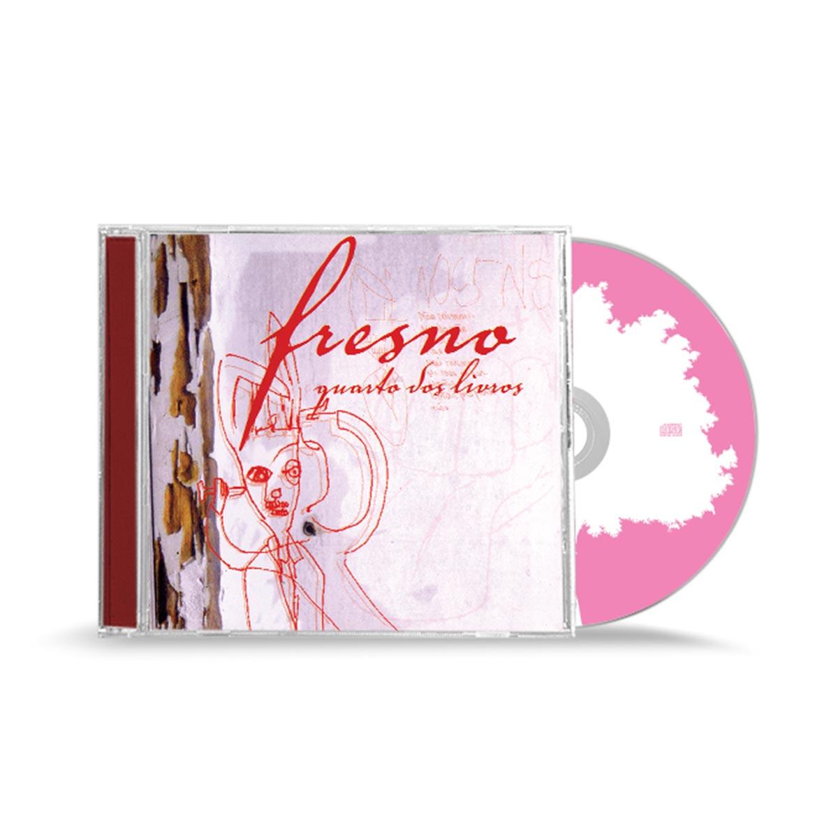 Combo Fresno CD Quarto dos Livros + Copo + Camiseta Feminina
