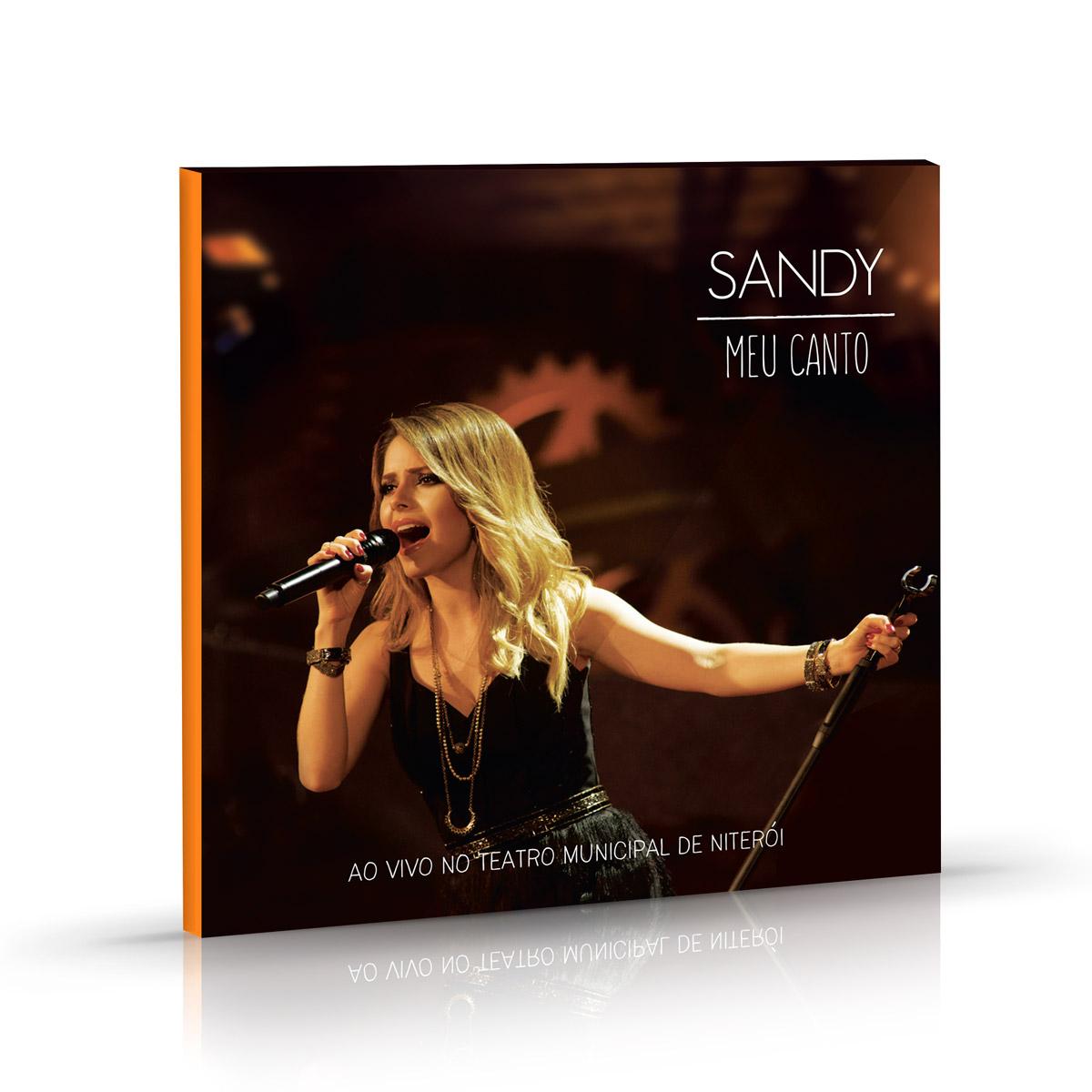 Combo Sandy CD Meu Canto + Camiseta Masculina + Copo