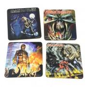 Conjunto com 4 Descansos Para Copos Iron Maiden