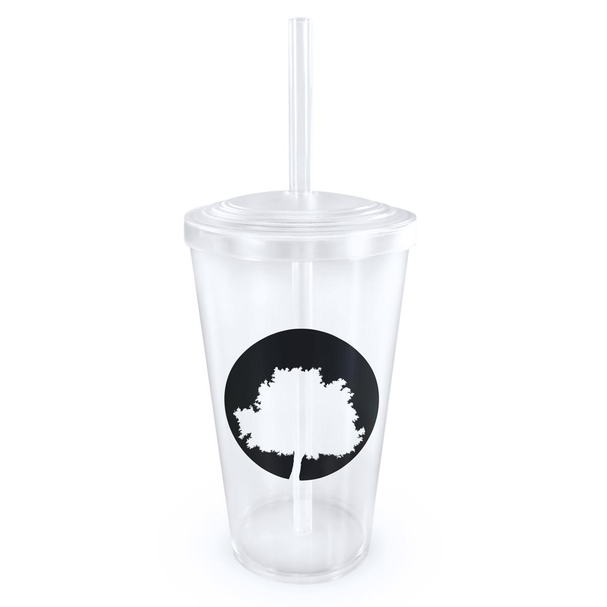 Copo Acrílico com Canudo Fresno Logo Árvore 2