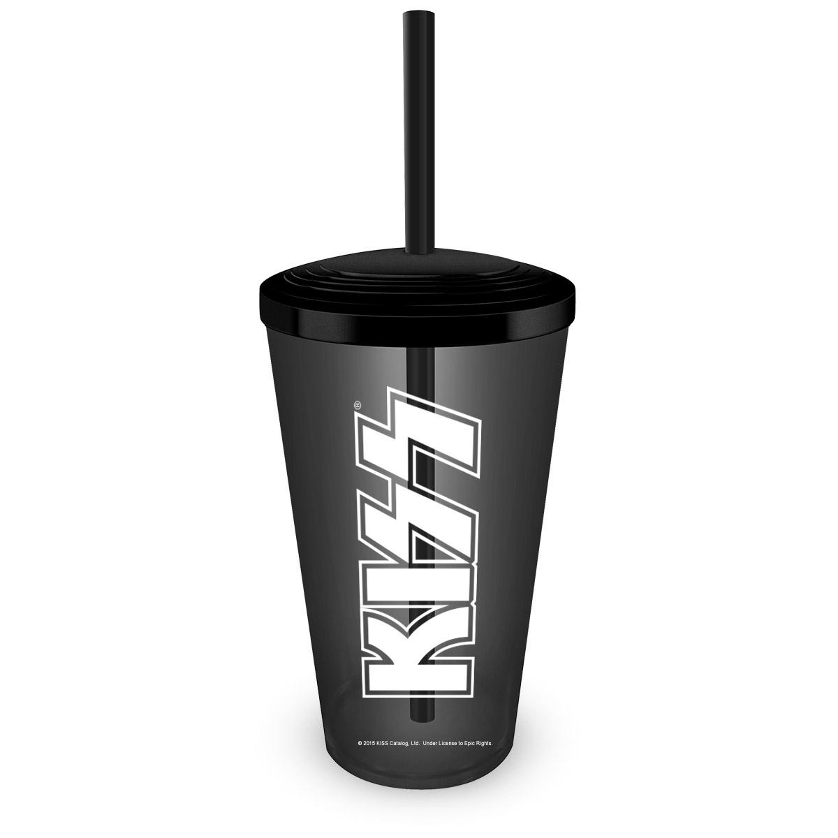 Copo Acrílico Fumê Kiss Logo