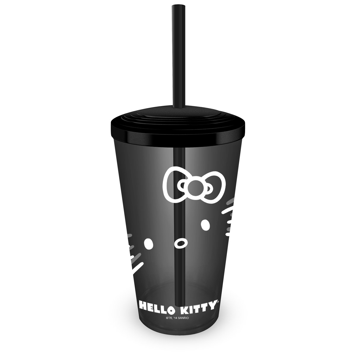 Copo Acrílico Hello Kitty Black