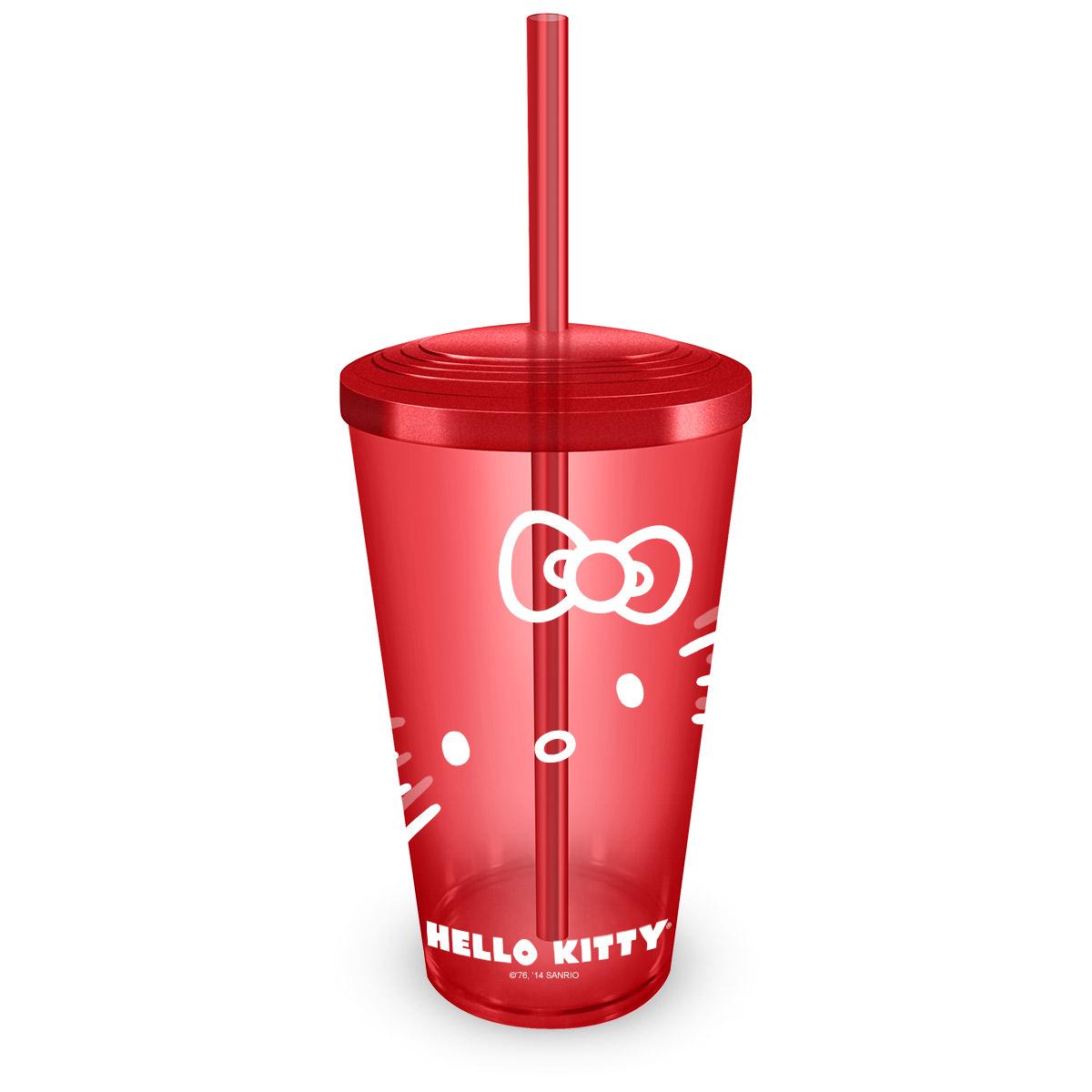 Copo Acrílico Hello Kitty Red