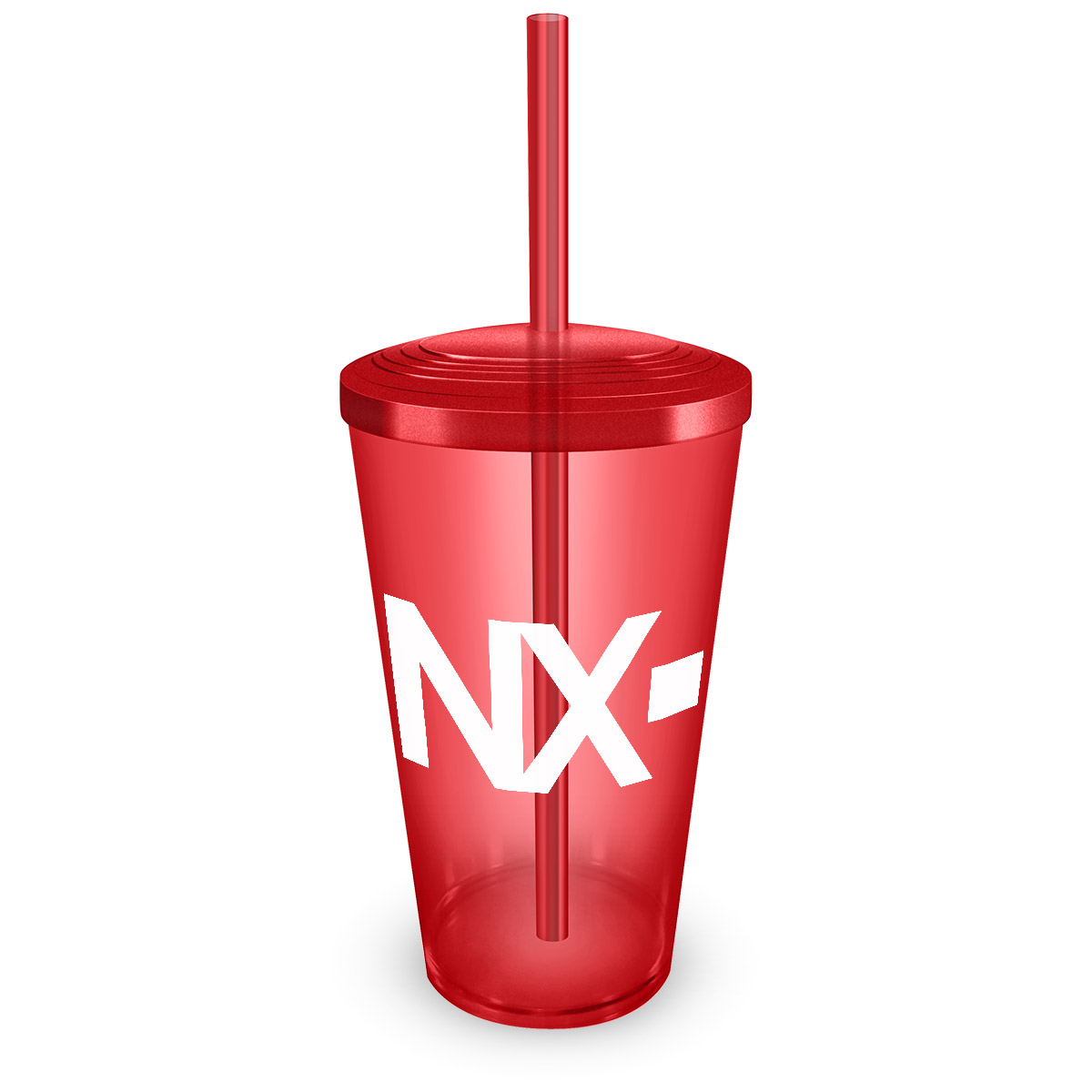 Copo Acrílico Vermelho NXZero Logo
