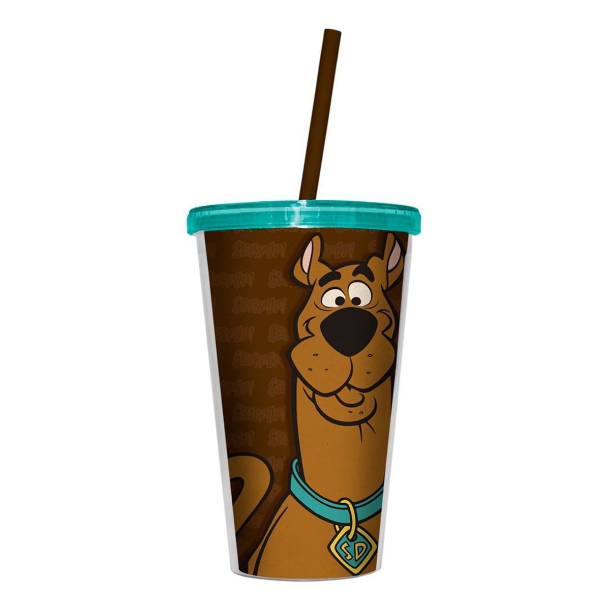 Copo Com Tampa e Canudo Scooby-Doo