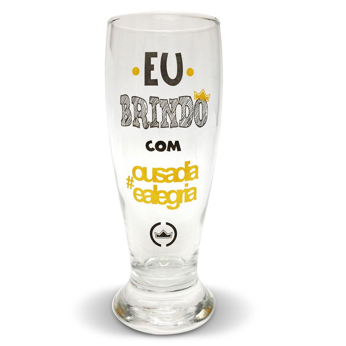 Copo de Cerveja Thiaguinho Ousadia e Alegria