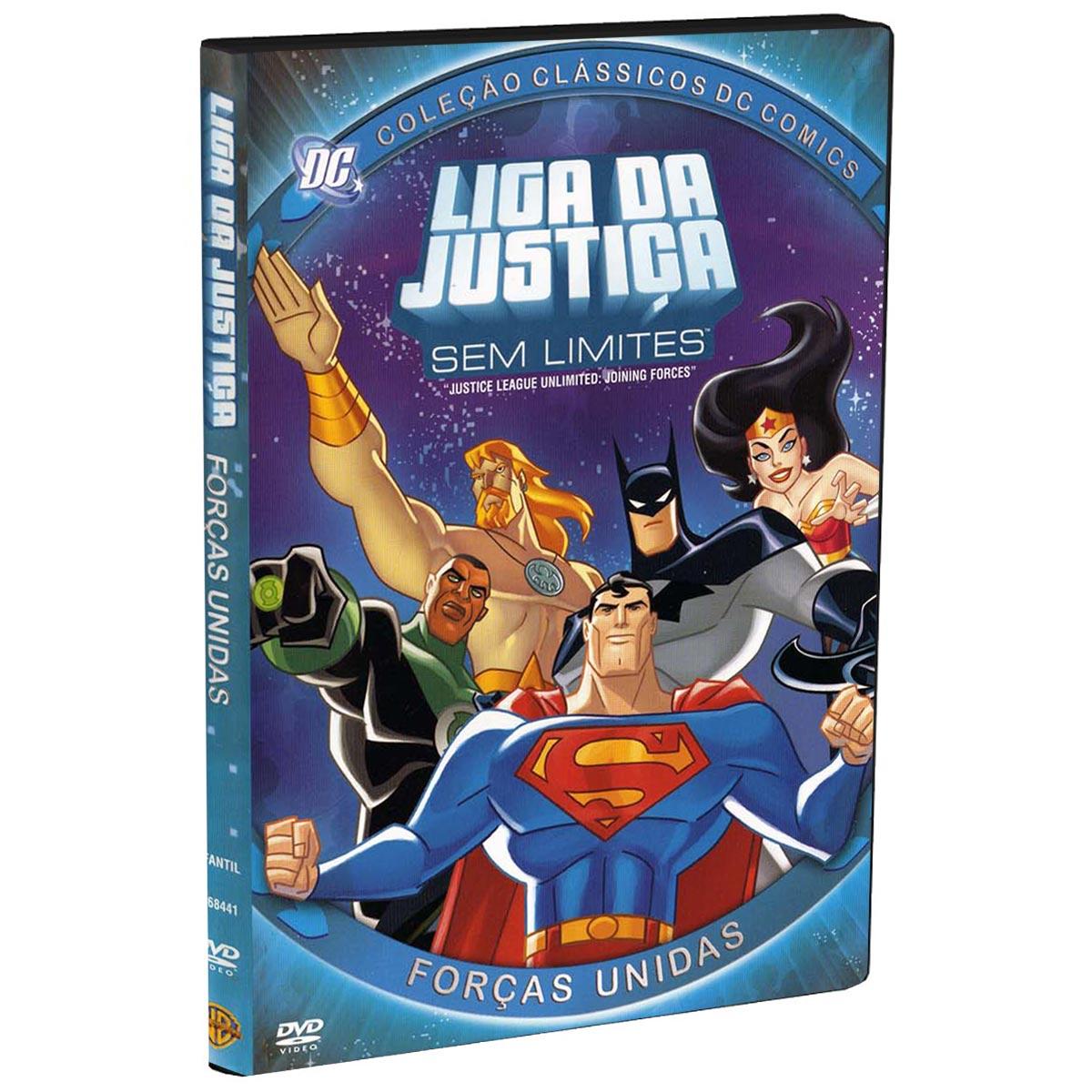 DVD Liga da Justiça Sem Limites: Forças Unidas