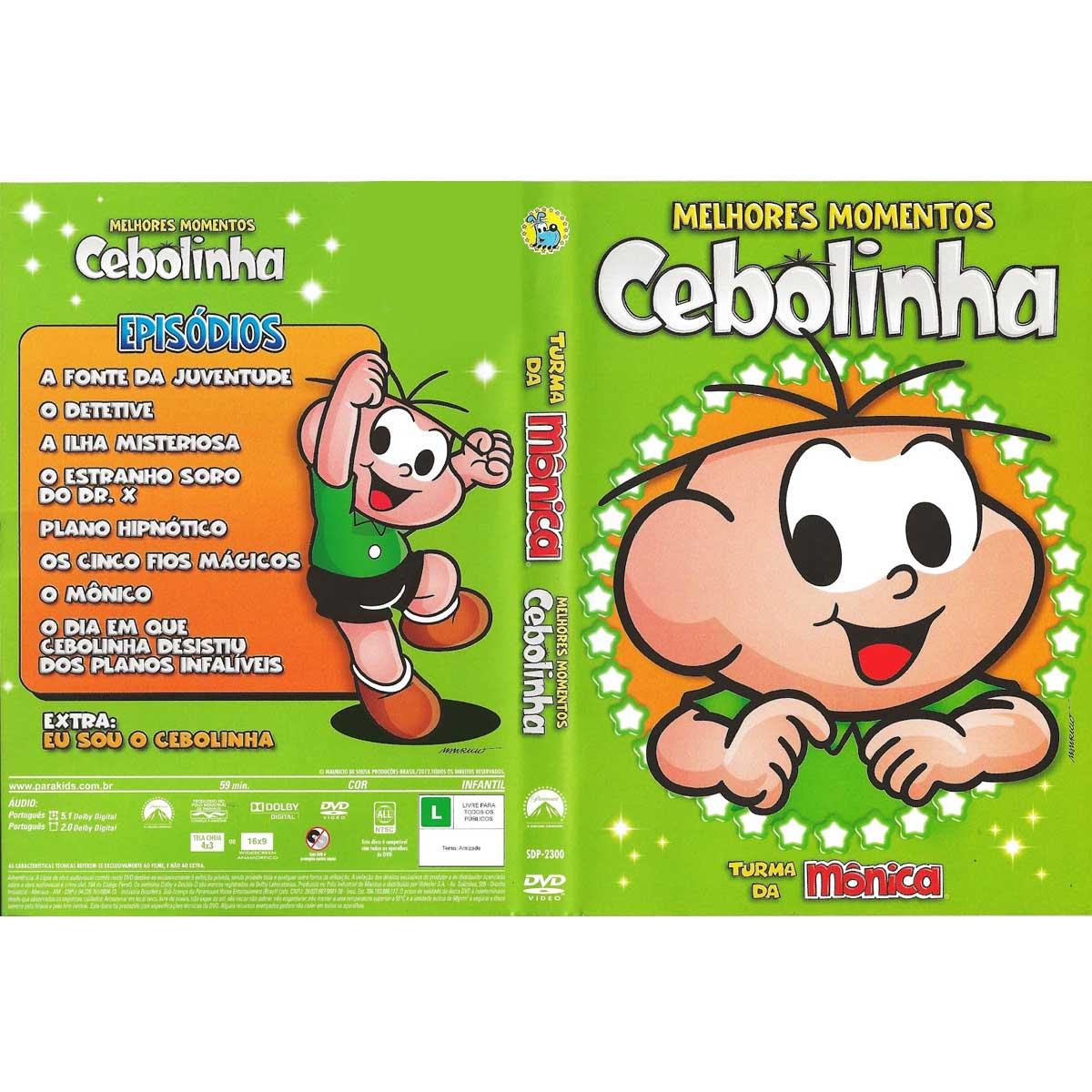 DVD Turma da Mônica Melhores Momentos Cebolinha