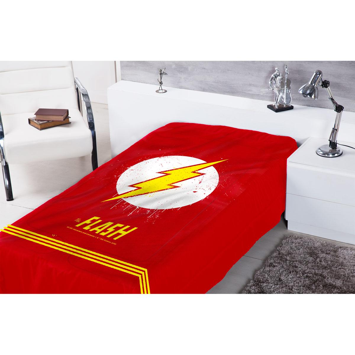Edredom de Solteiro The Flash Logo