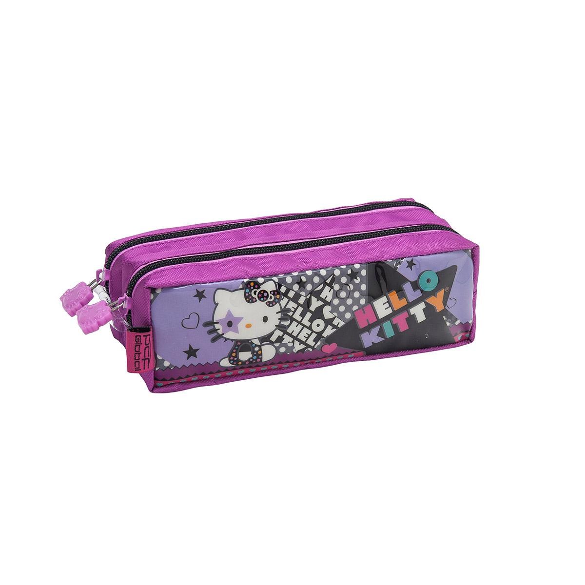 Estojo com Dois Compartimentos Hello Kitty Star 924P14
