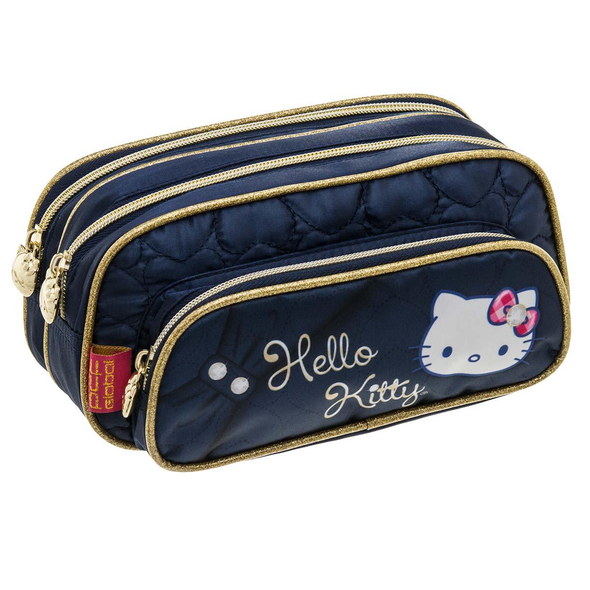 Estojo Triplo Hello Kitty Sparkling Blue