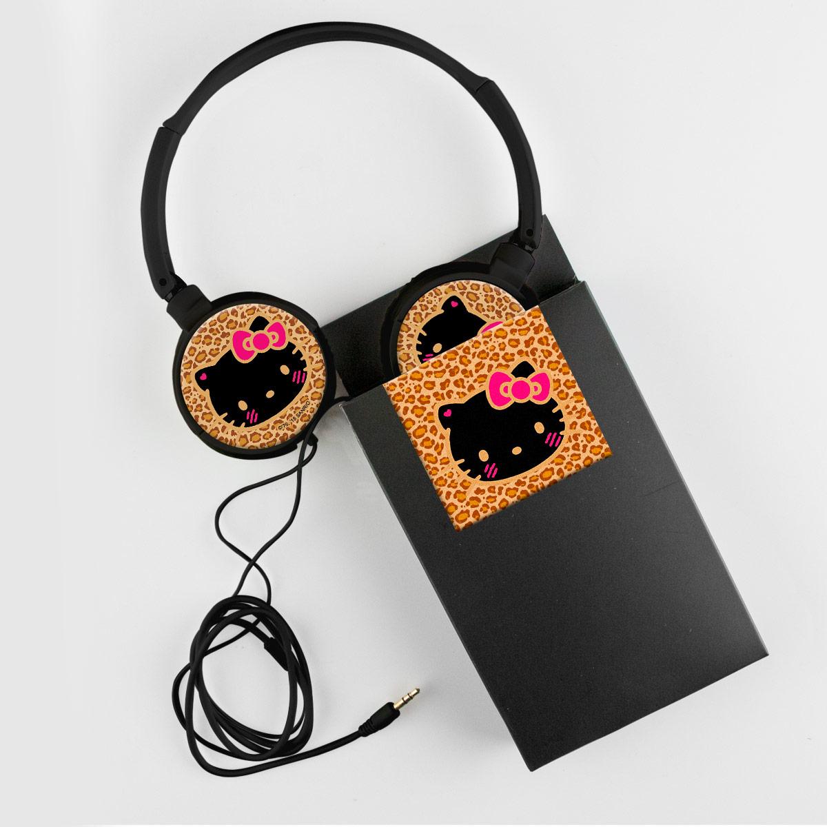 Fones de Ouvido Hello Kitty Print Fuzzy