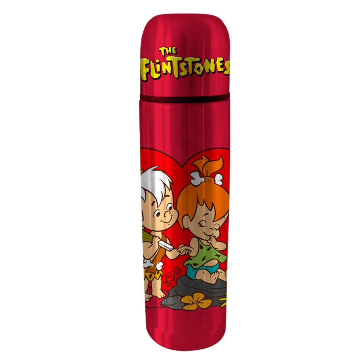 Garrafa Térmica Os Flintstones Pedrita e Bam Bam